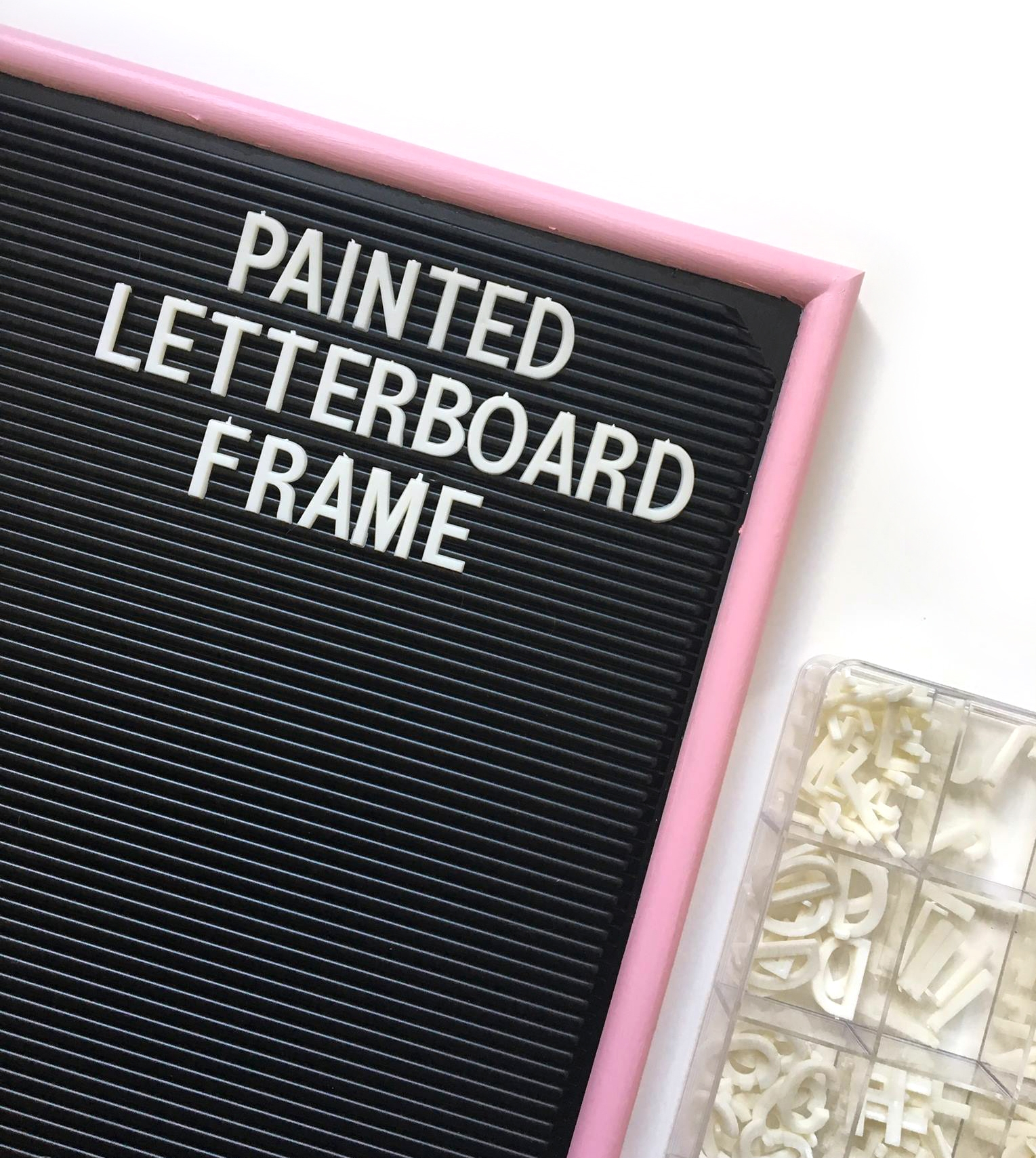 DIY painted letterboard frame   Amanda Zampelli