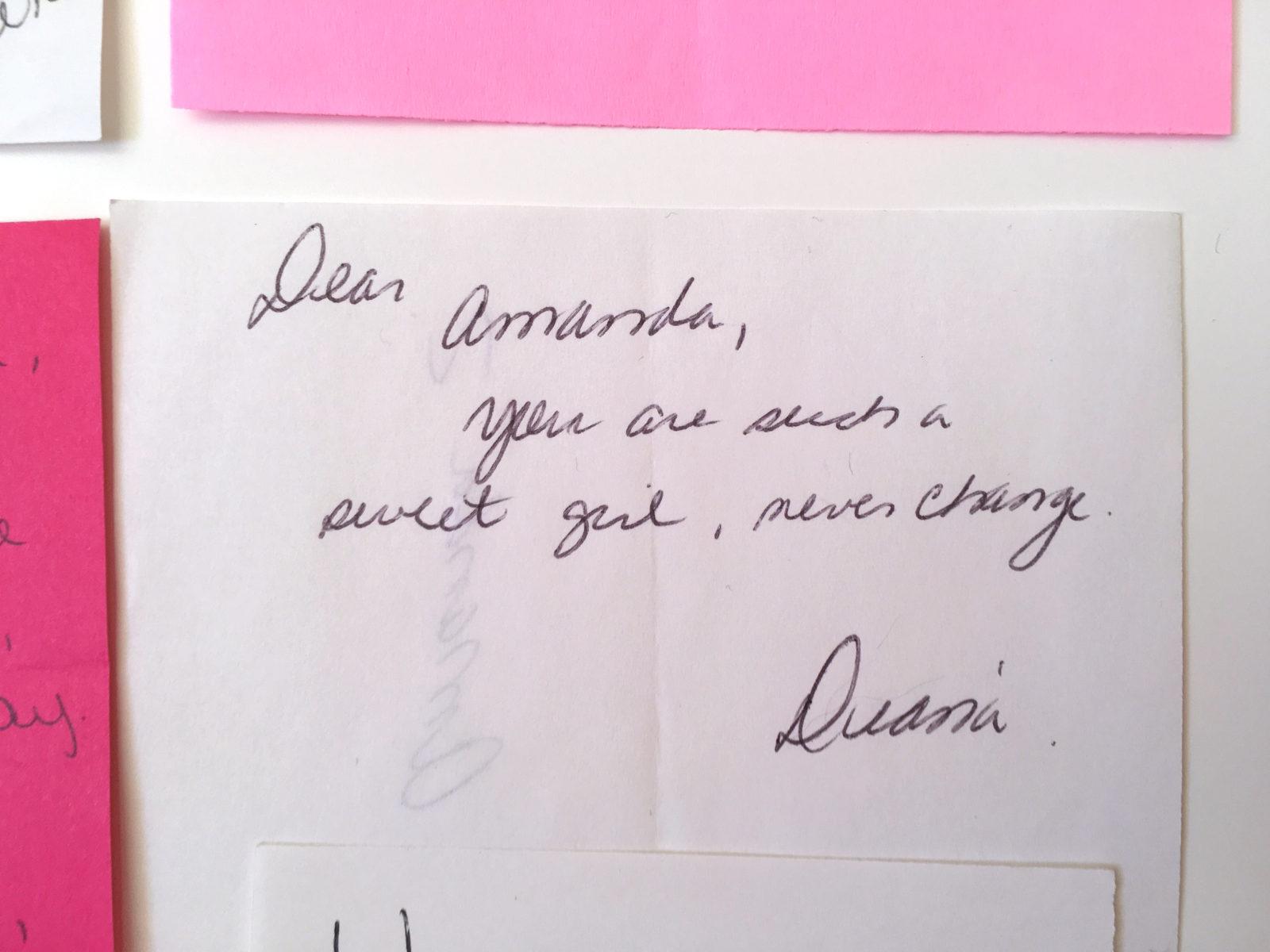 Valentines notes from high school | Amanda Zampelli