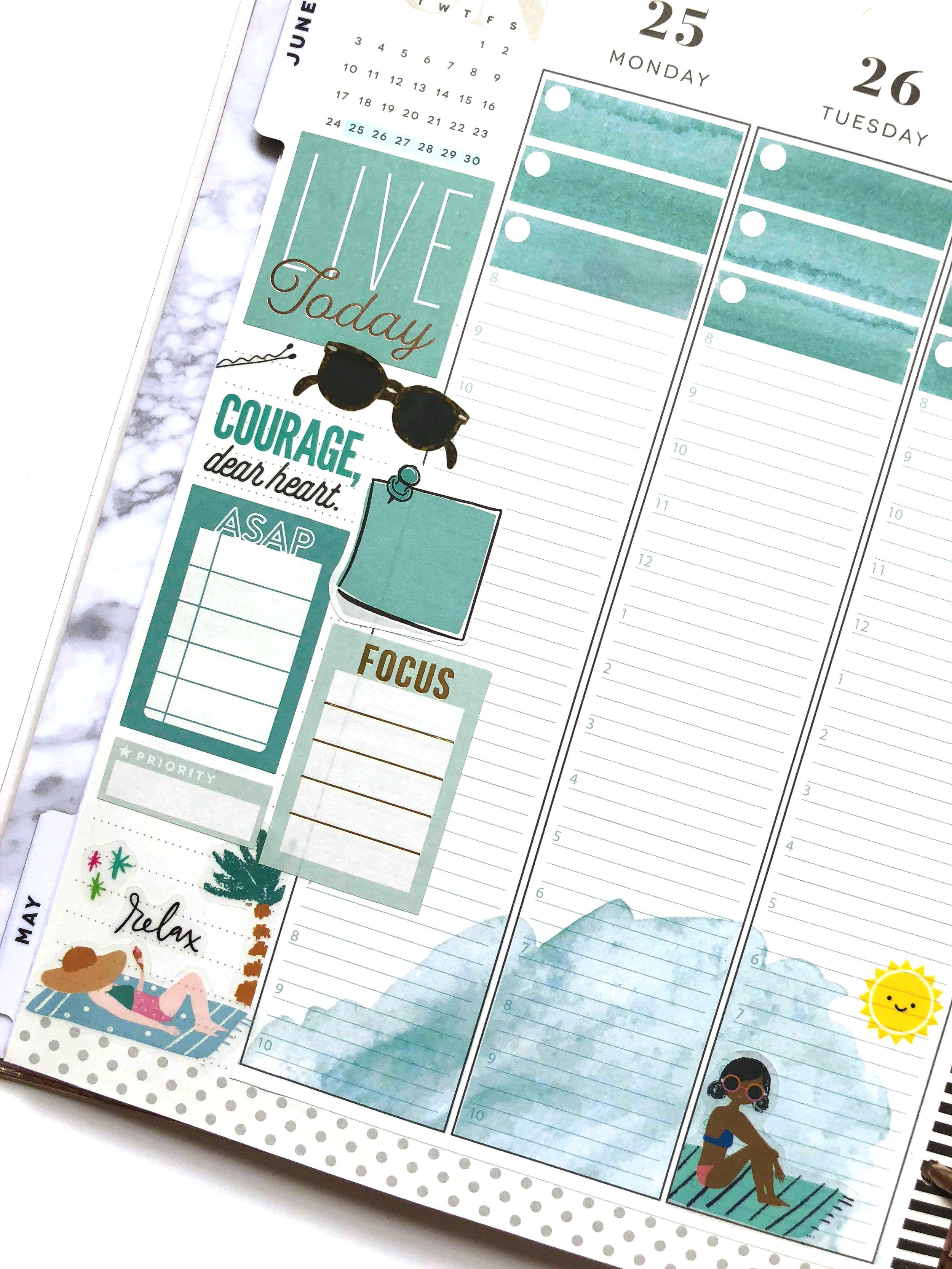 JUNE 2018 planner Strips for The Happy Planner™ | Amanda Zampelli