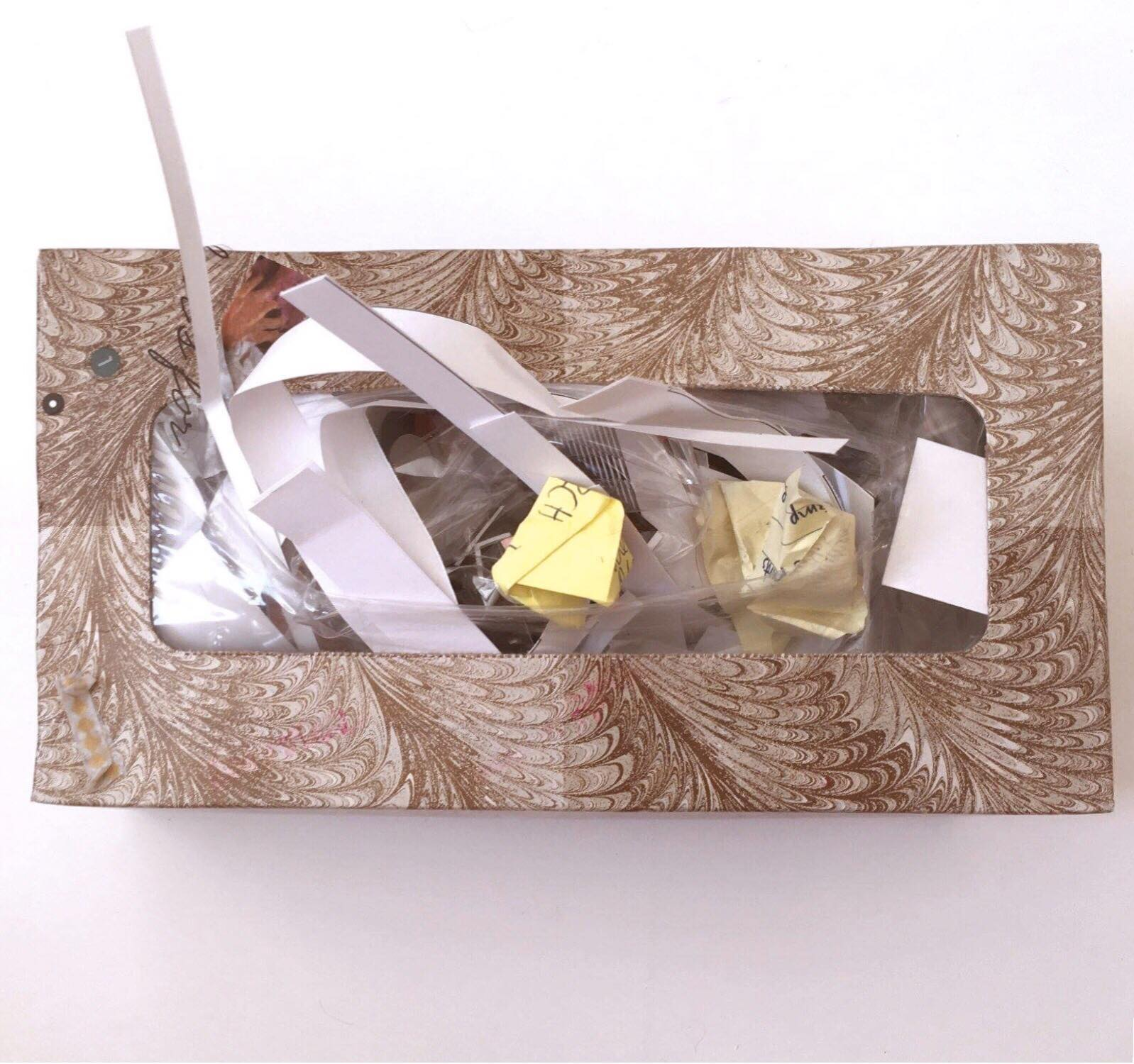 empty tissue box paper scrap 'catch all' | Amanda Zampelli
