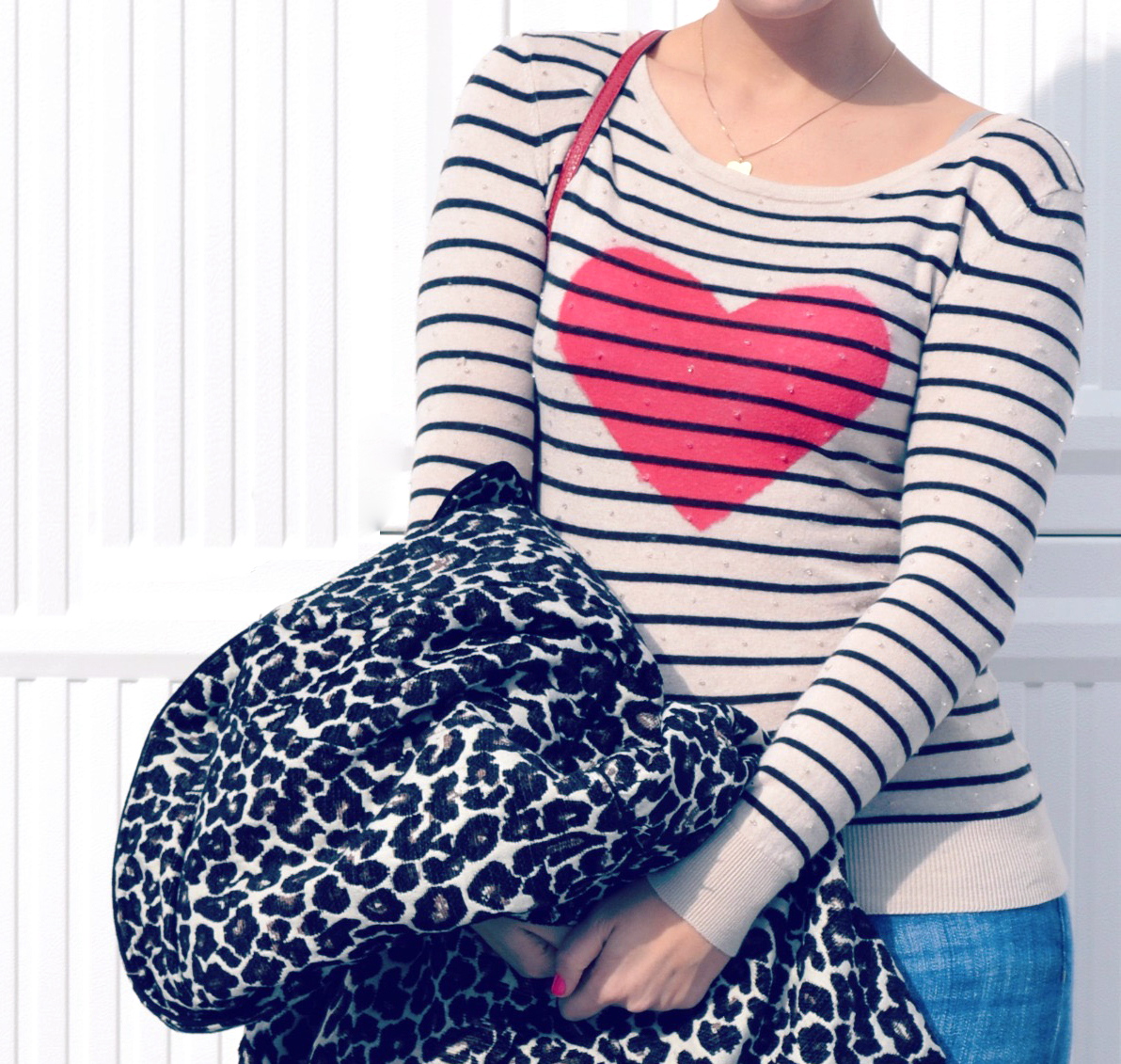 Heart Sweater DIY with fabric paint for Valentine's Day | Amanda Zampelli