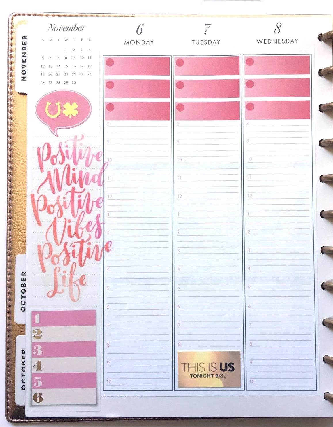 NOVEMBER 2017 Planner Strips for The Happy Planner™ | Amanda Zampelli