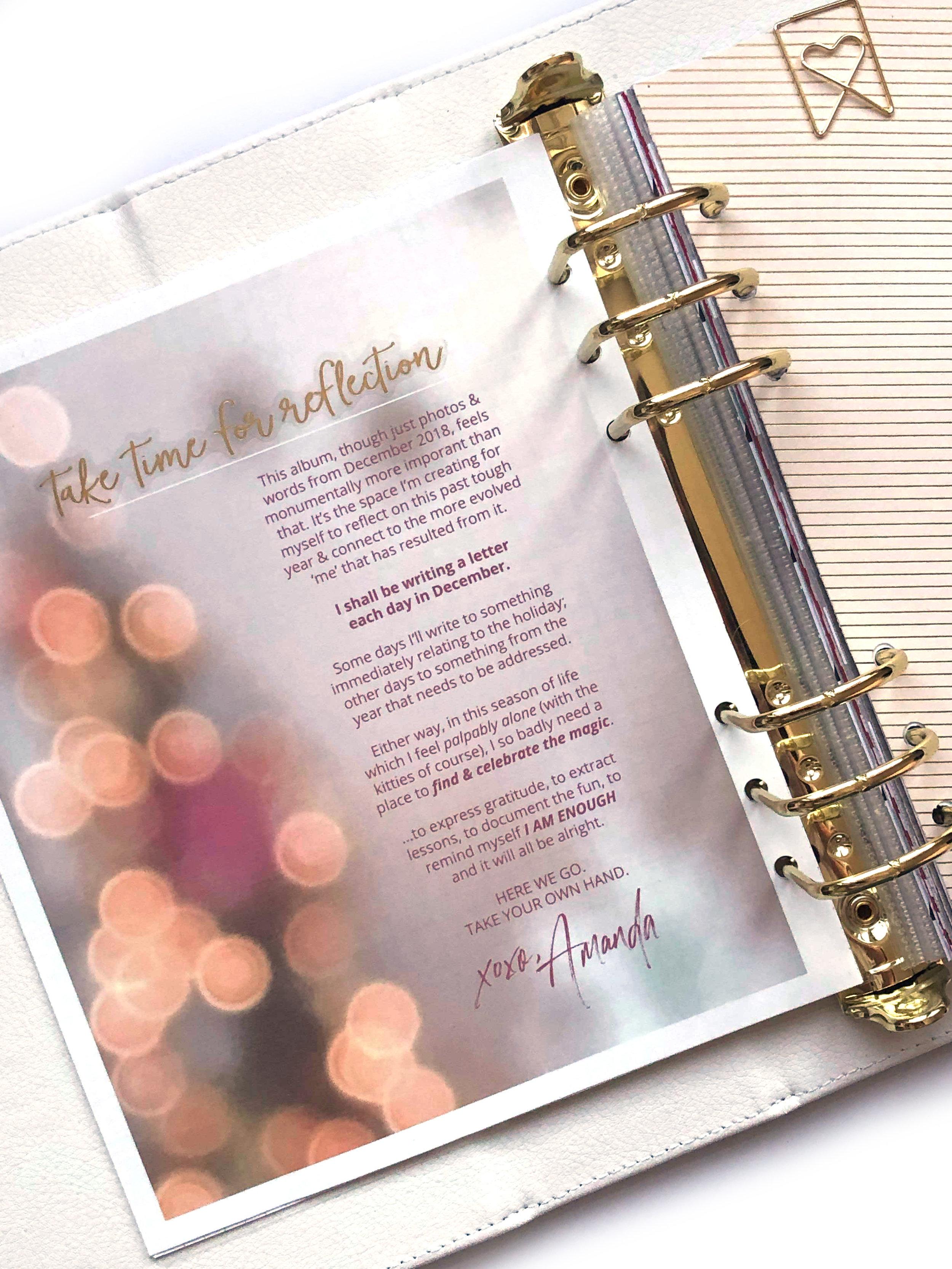 intro, prep, & thoughts // December Daily 2018   Amanda Zampelli