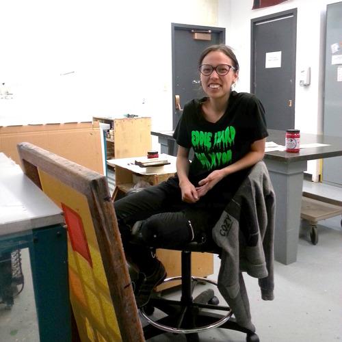 Whess Harman in their Banff studio