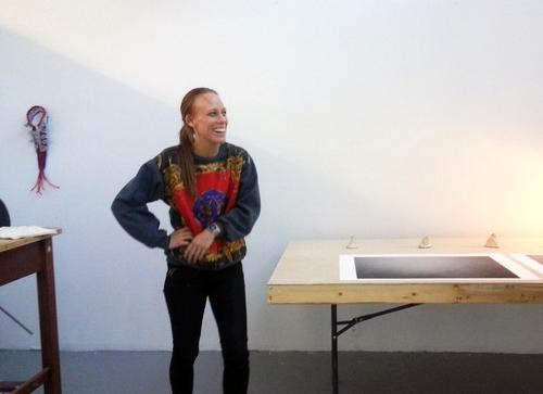 Carola Grahn in her Banff studio