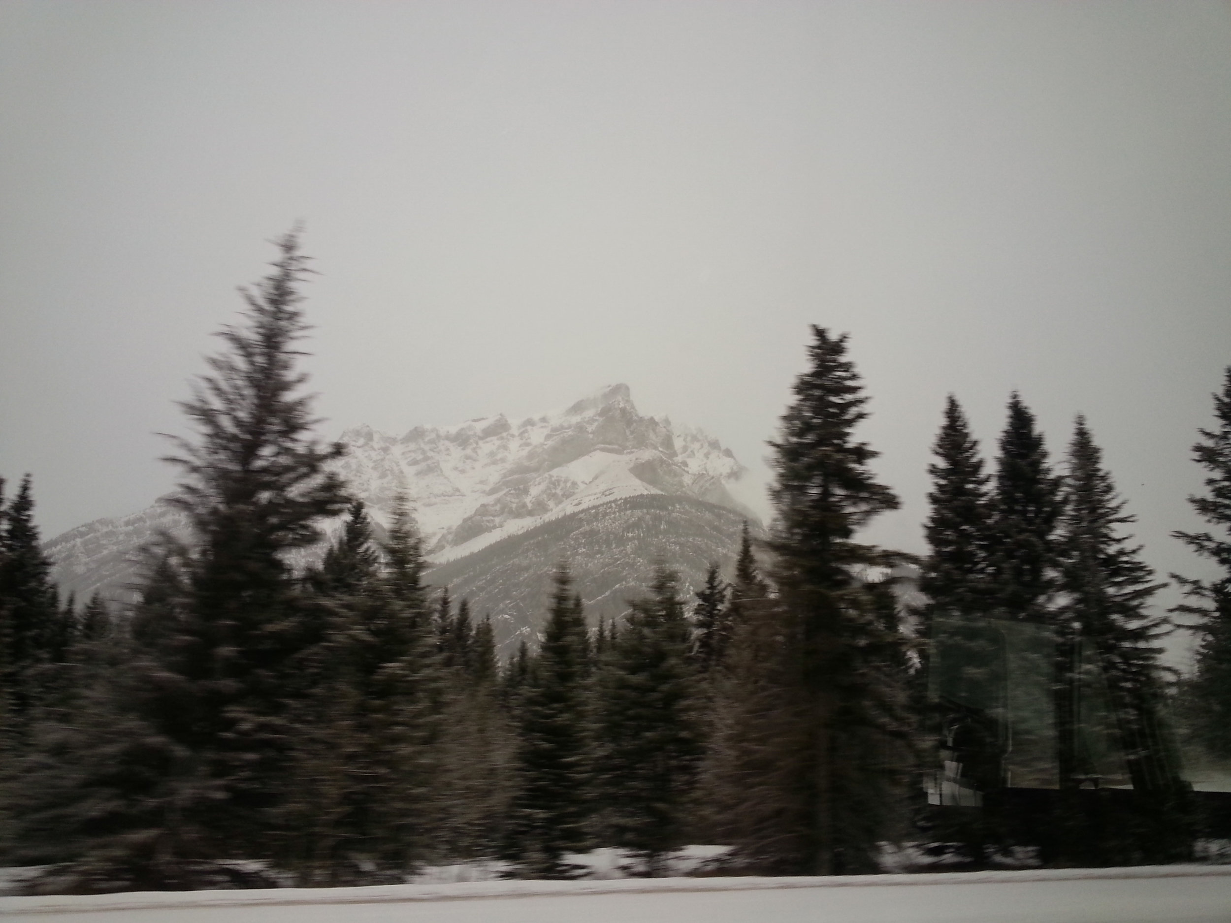 Mountains on the way to Calgary