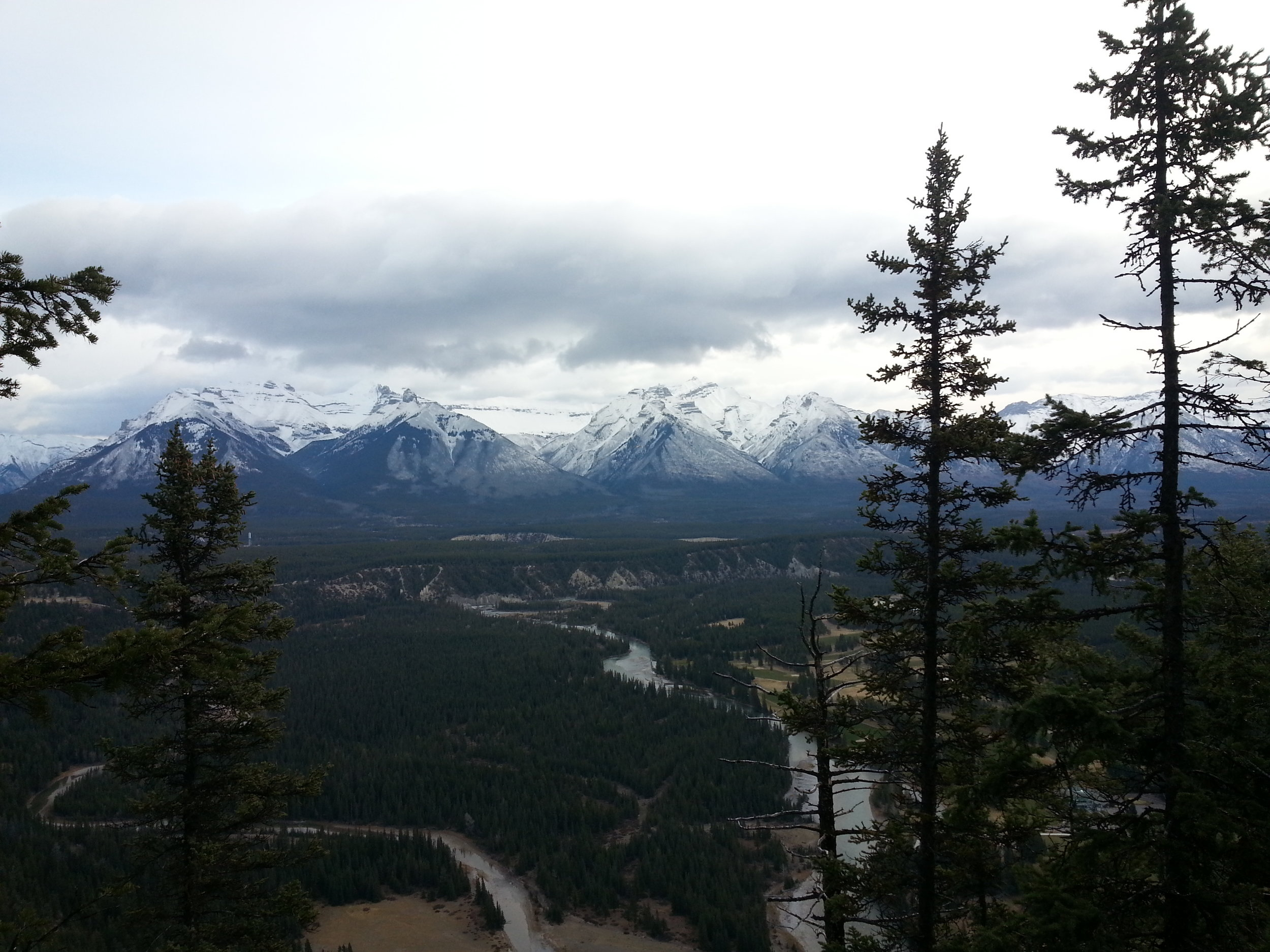 Atop Tunnel Mountain, looking southwest