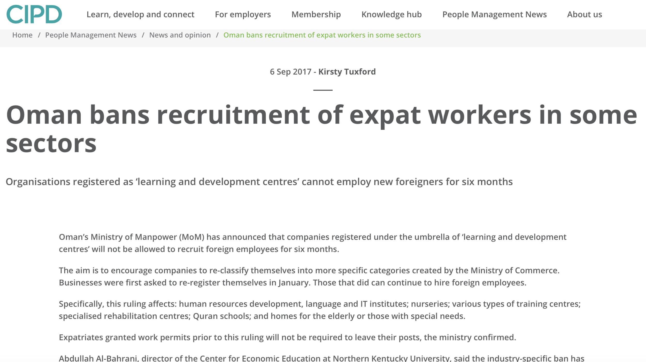 Omani Labor Laws -