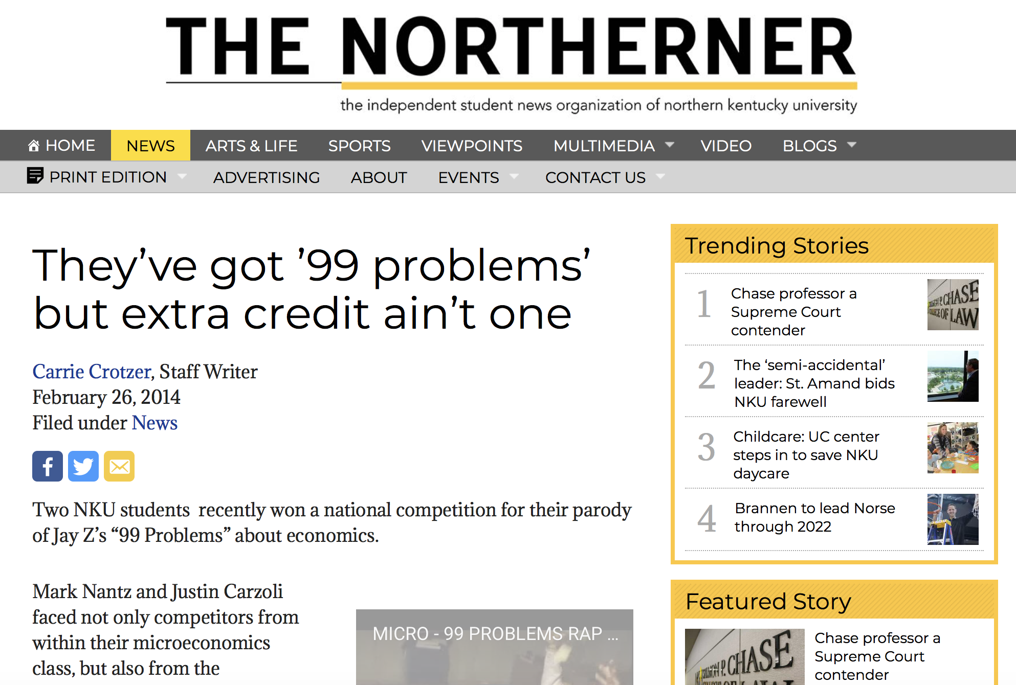 They've got '99 problems' but extra credit ain't one - Read More
