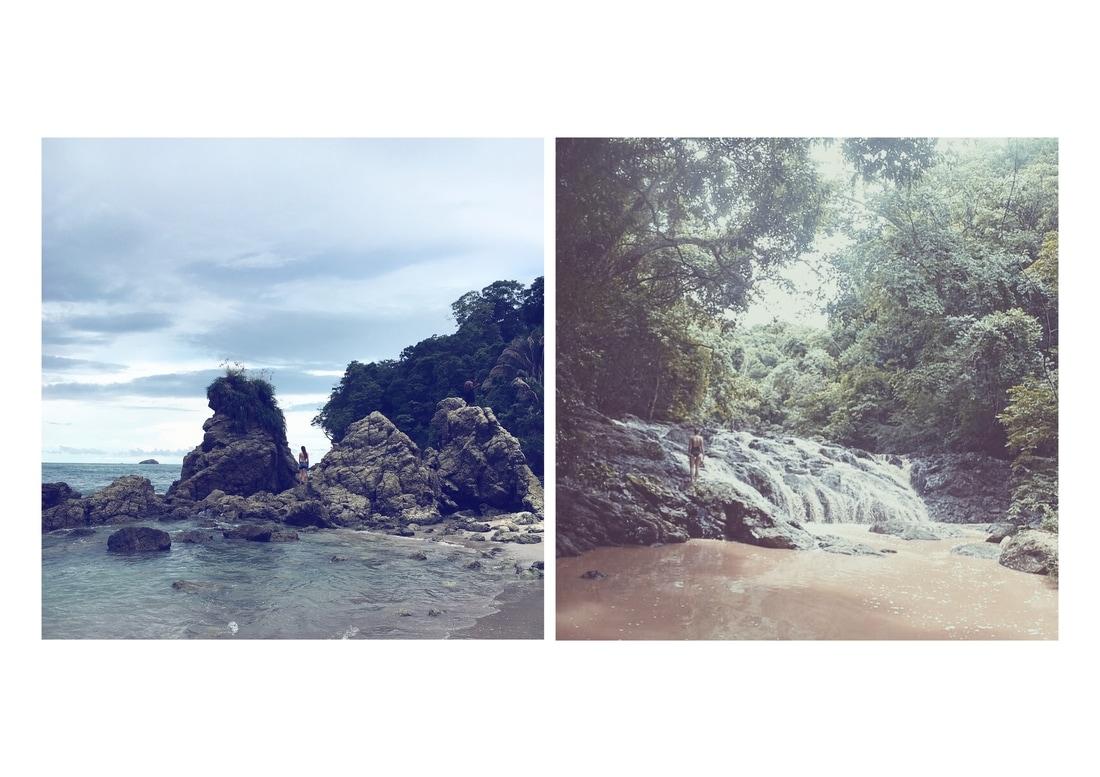left: Parque Nacional Manuel Antonio - Playa Escondido || right: Montezuma Waterfalls