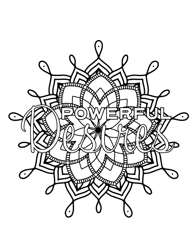 Powerful desires coloring sheet - color your way to alignment