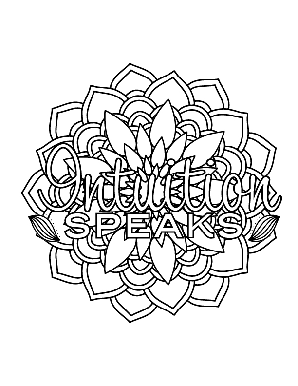 coloring page - Intuition Speaks