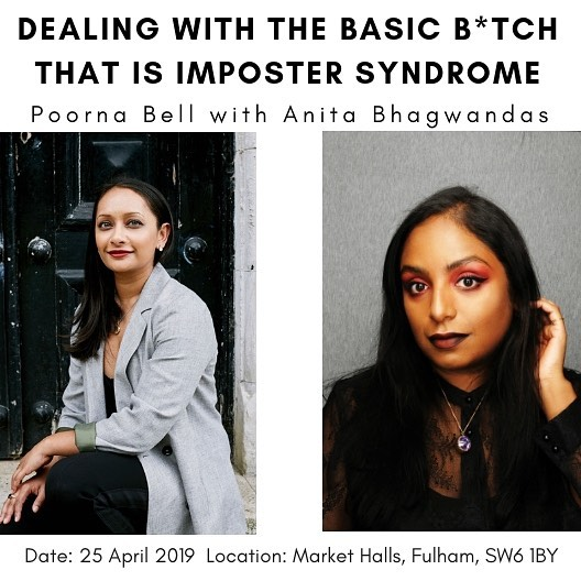 My third event is on 25 April at a gorgeous location in London @markethalls in Fulham, and I decided imposter syndrome, something I've struggled with most of my life, had to be my next topic. Imposter syndrome to me is an irrational fear because it flies in the face of everything I've achieved, it is contrary to all and any evidence of success. We'll be discussing ways to identify it, address it and how to overcome it, and have some honest, heartfelt conversations about it. It's more female facing than my usual events which tend to do be gender neutral, as a heads up. I'll be running the first hour solo, and my brilliant guest @itsmeanitab - brand consultant, journo and former Beauty Director for @stylistmagazine will be joining me for the second hour to discuss success, and how being a woman of colour and plus size affect her experience of imposter syndrome. The venue is wheelchair accessible. Links to tickets in bio and hope to see you there! https://www.eventbrite.co.uk/e/dealing-with-the-basic-btch-that-is-imposter-syndrome-tickets-59338468958 #instagram #impostersyndrome #women #wellness #london #workshop