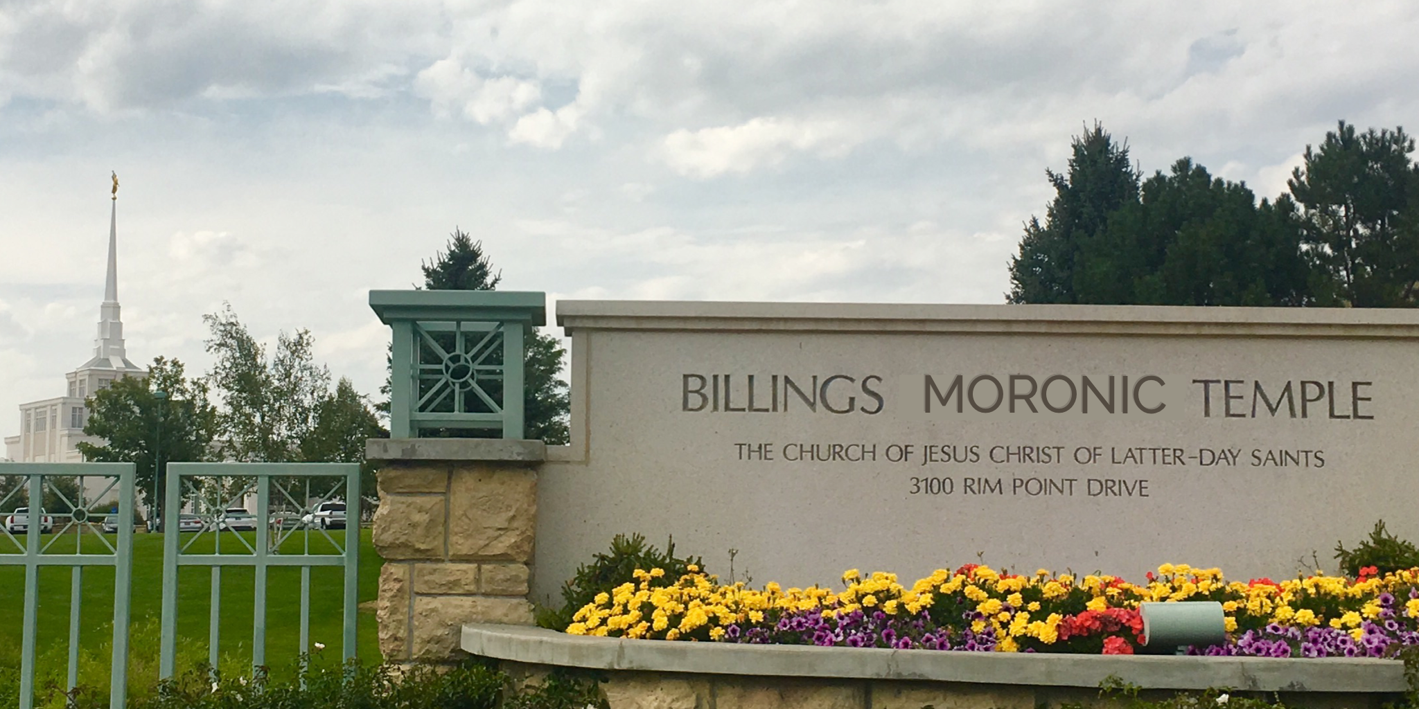the first church to show their dedication to moroni