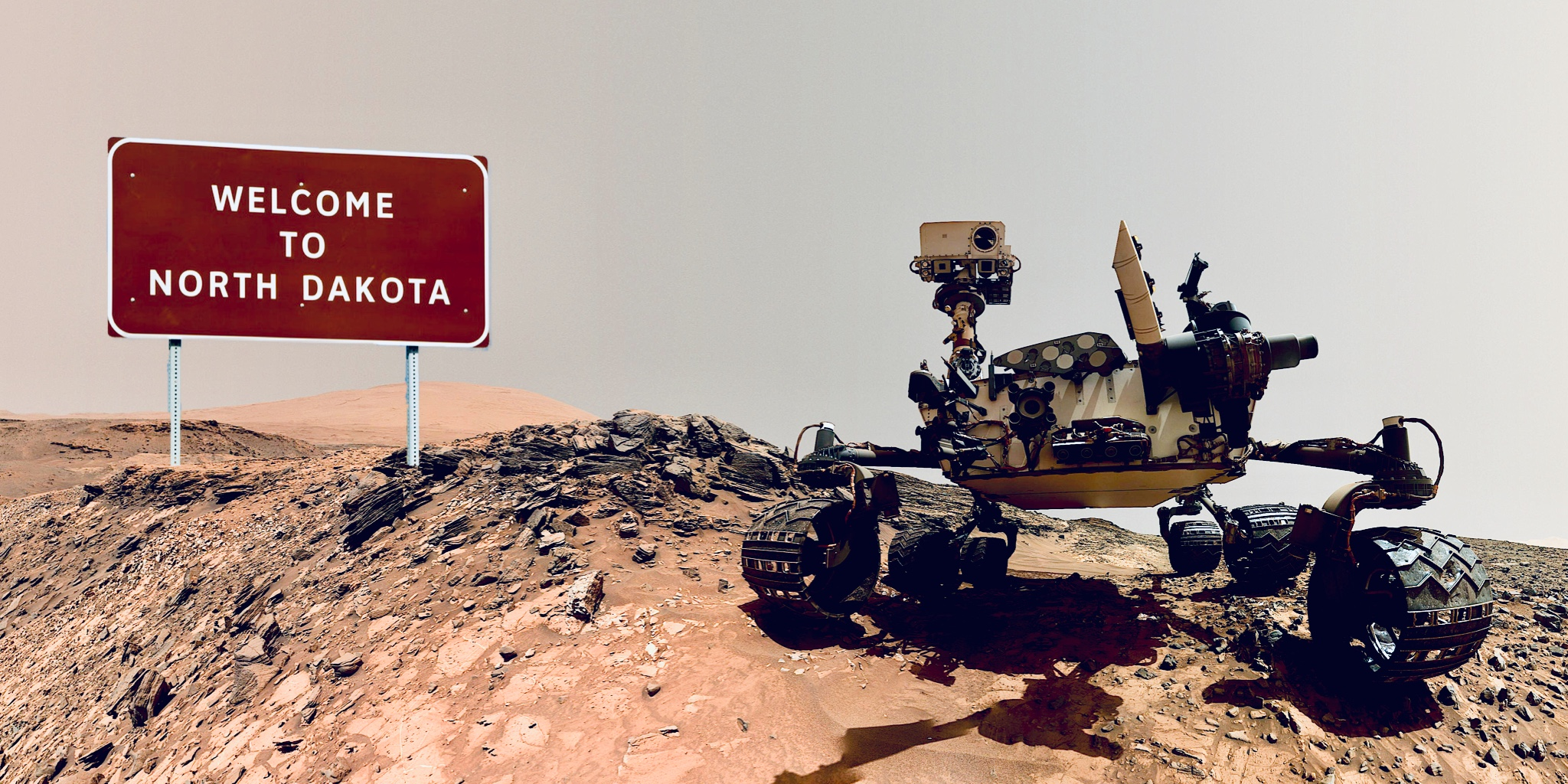 A new rover that was sent to visit the desolate state
