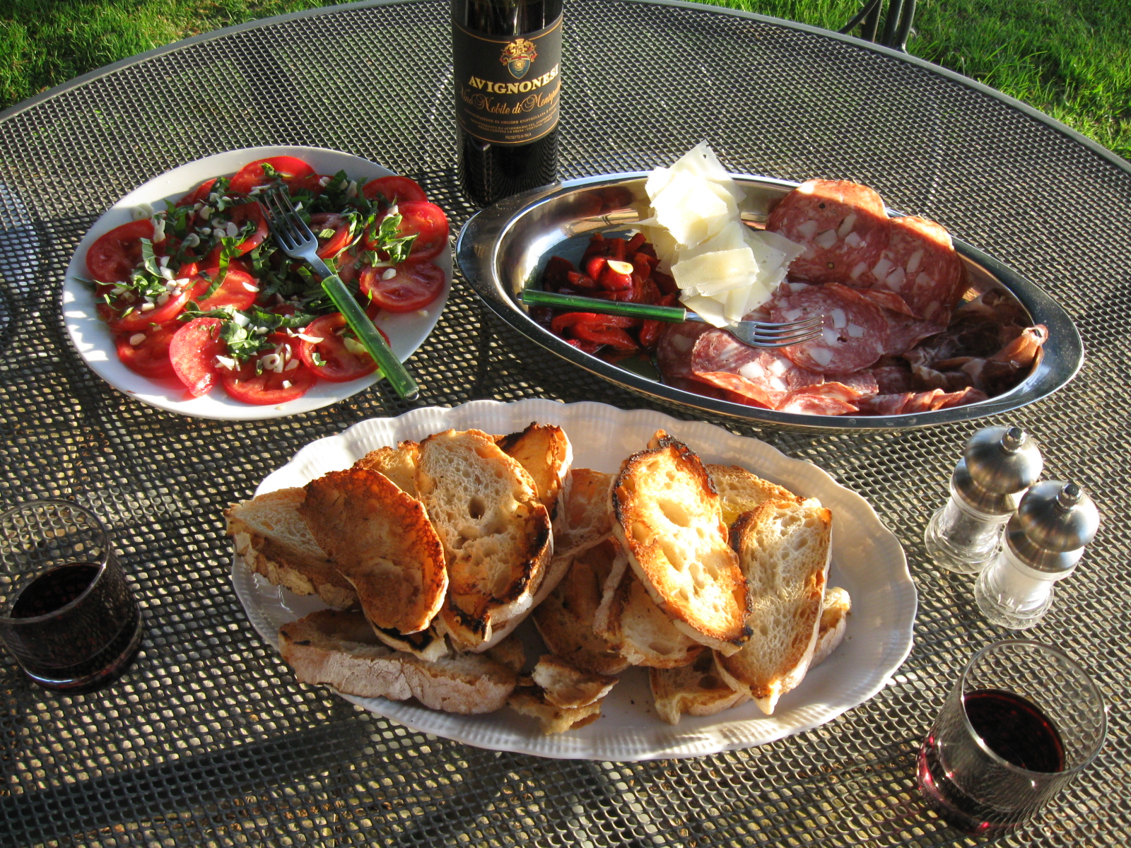 Antipasto at sunset, Della Stella.jpg