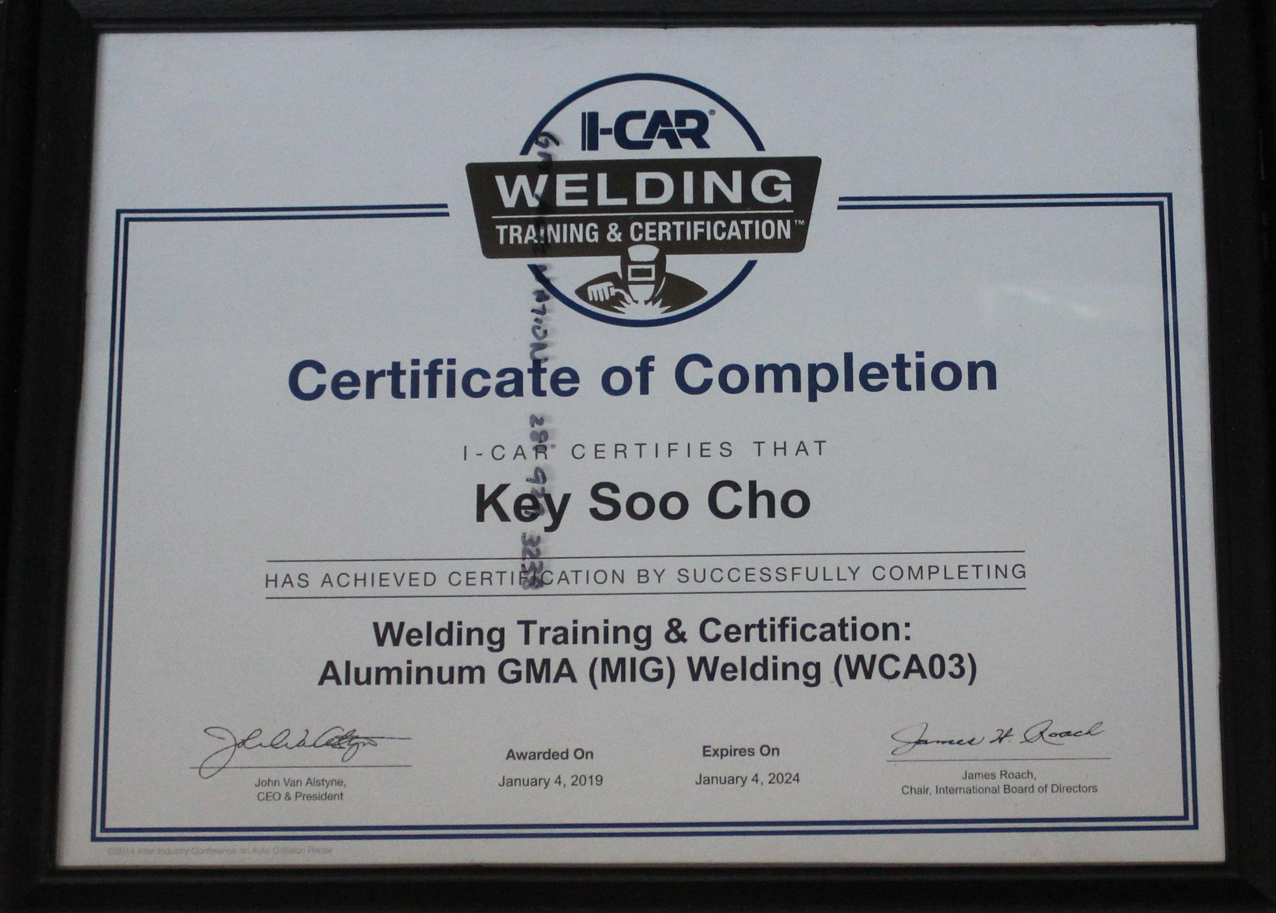 cho's body shop certifications.JPG