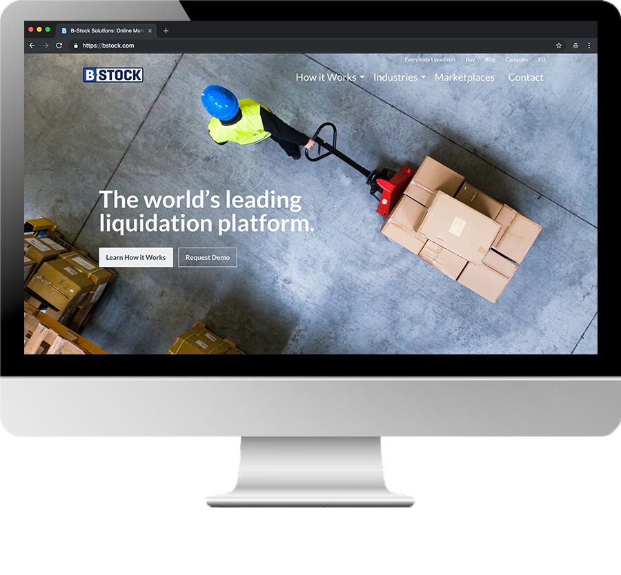 B-Stock - Utilizing technology to sell and move returned, excess, and other liquidation inventory from large corporation's warehouse directly to the right business buyers through an online sales platform.