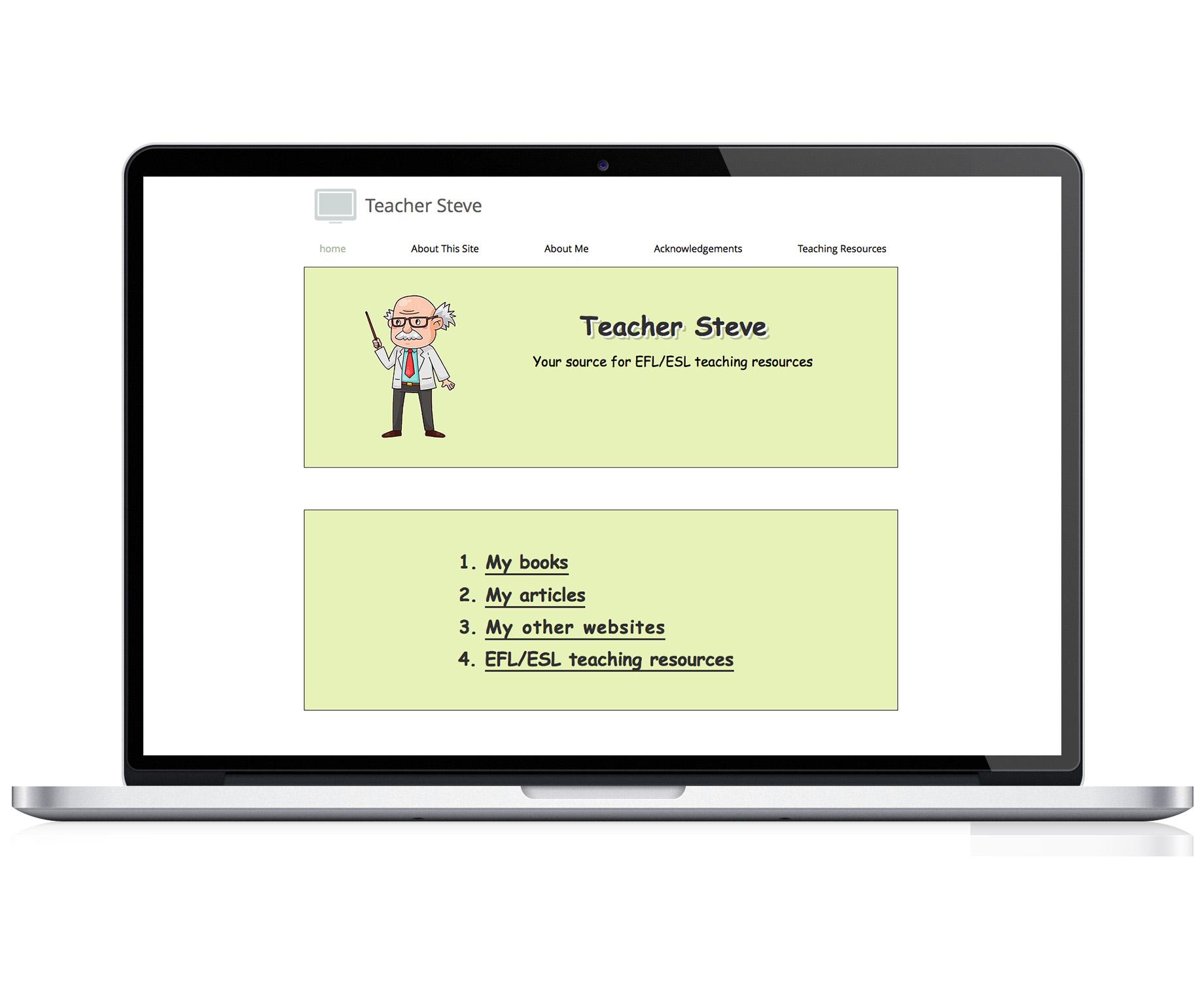 Teacher Steve  -  E.S.L. Teacher & Resource