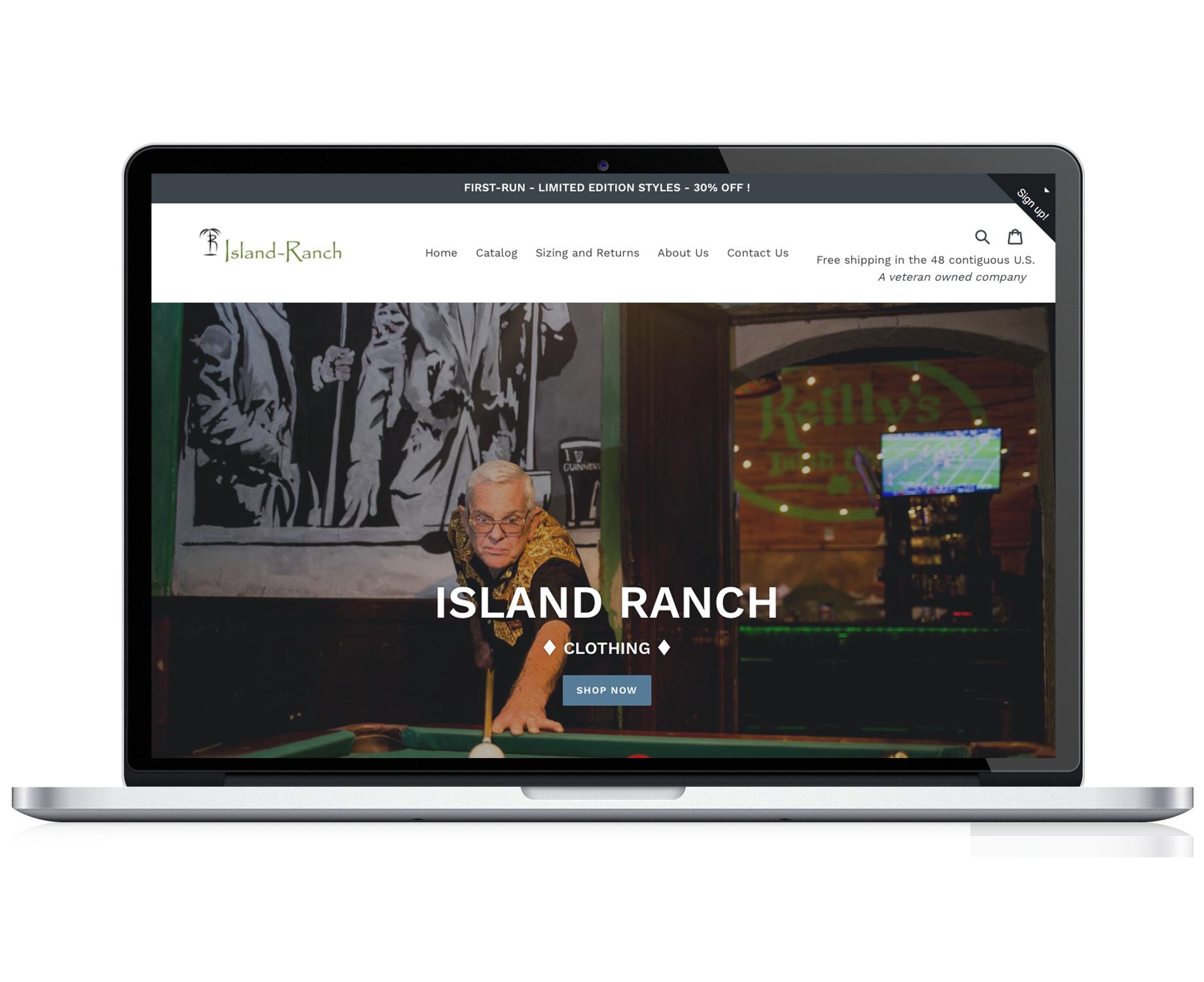 Island Ranch Clothing  -  E-Commerce Clothing