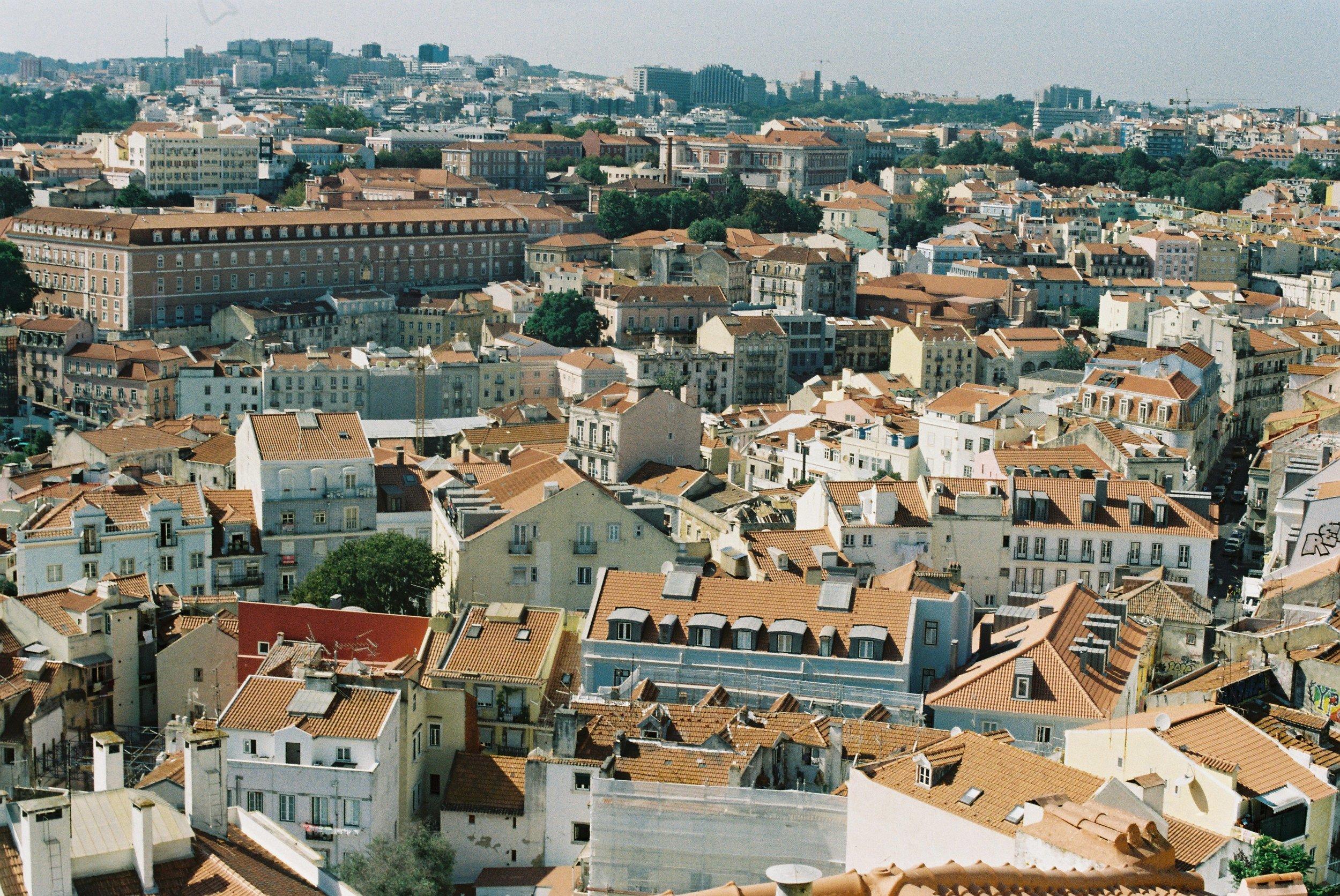 The view from Miradouro de Santa Catarina