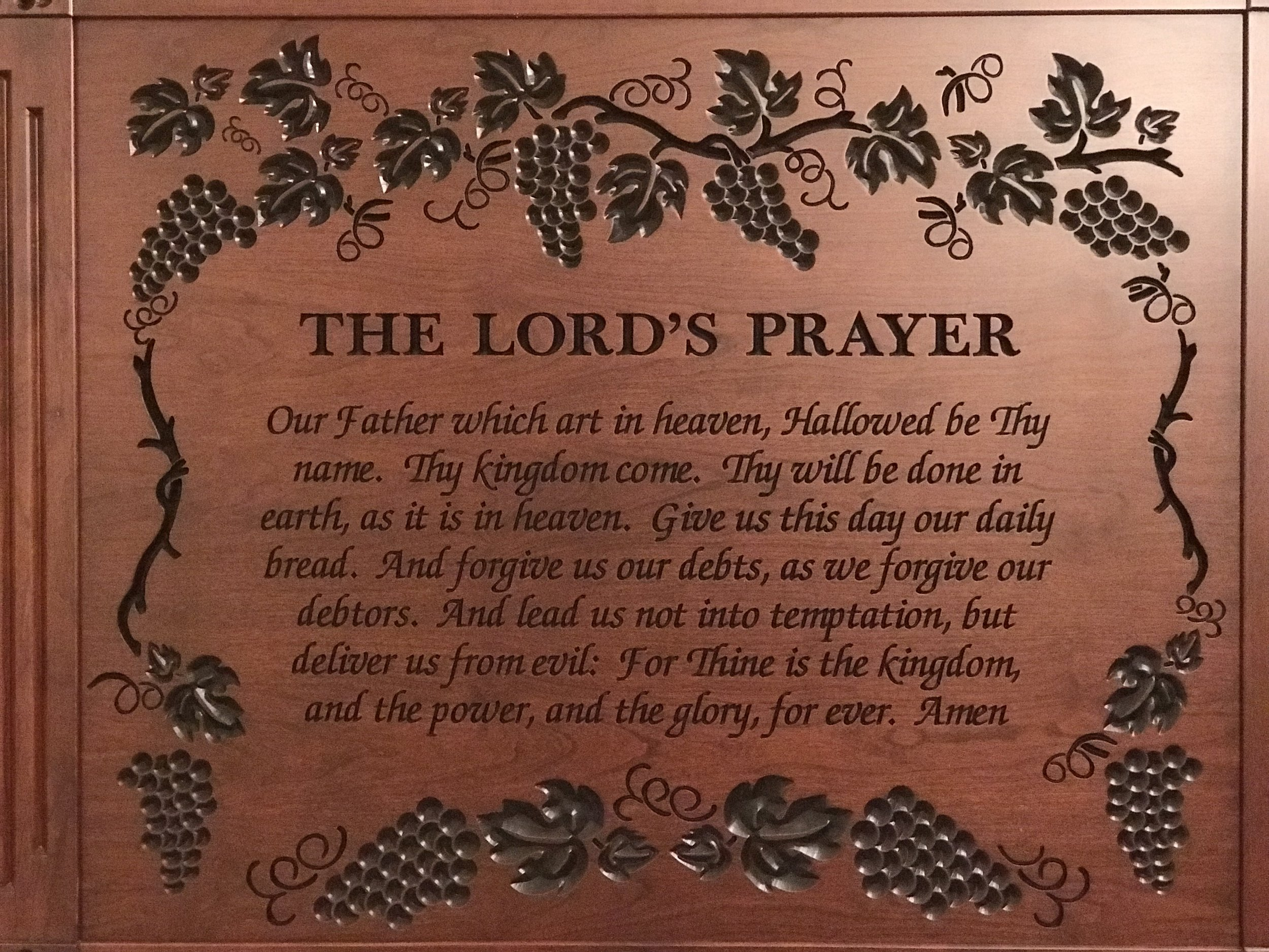 The Lord's Prayer - Wooden Plaque