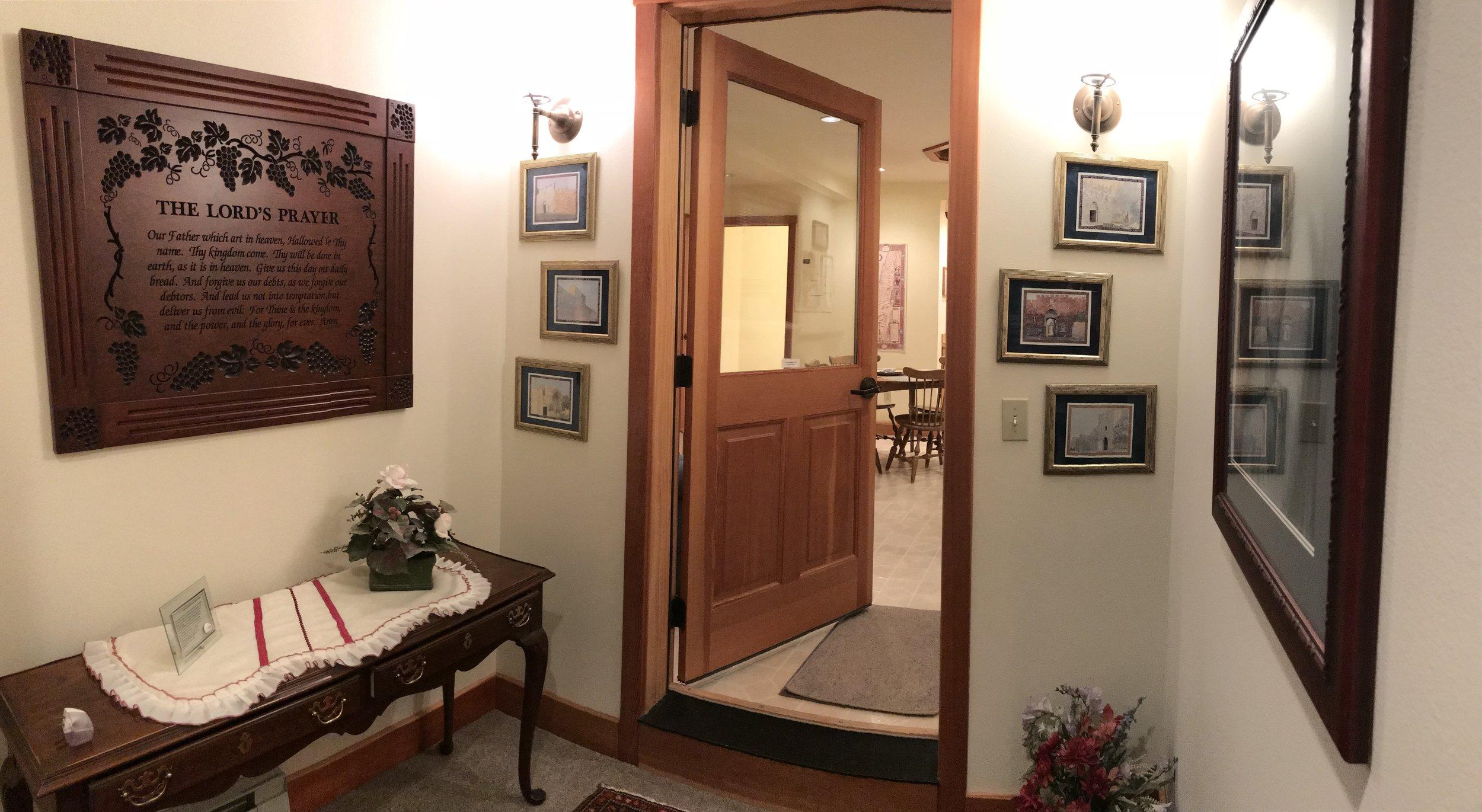 Entryway to the Prayer Center
