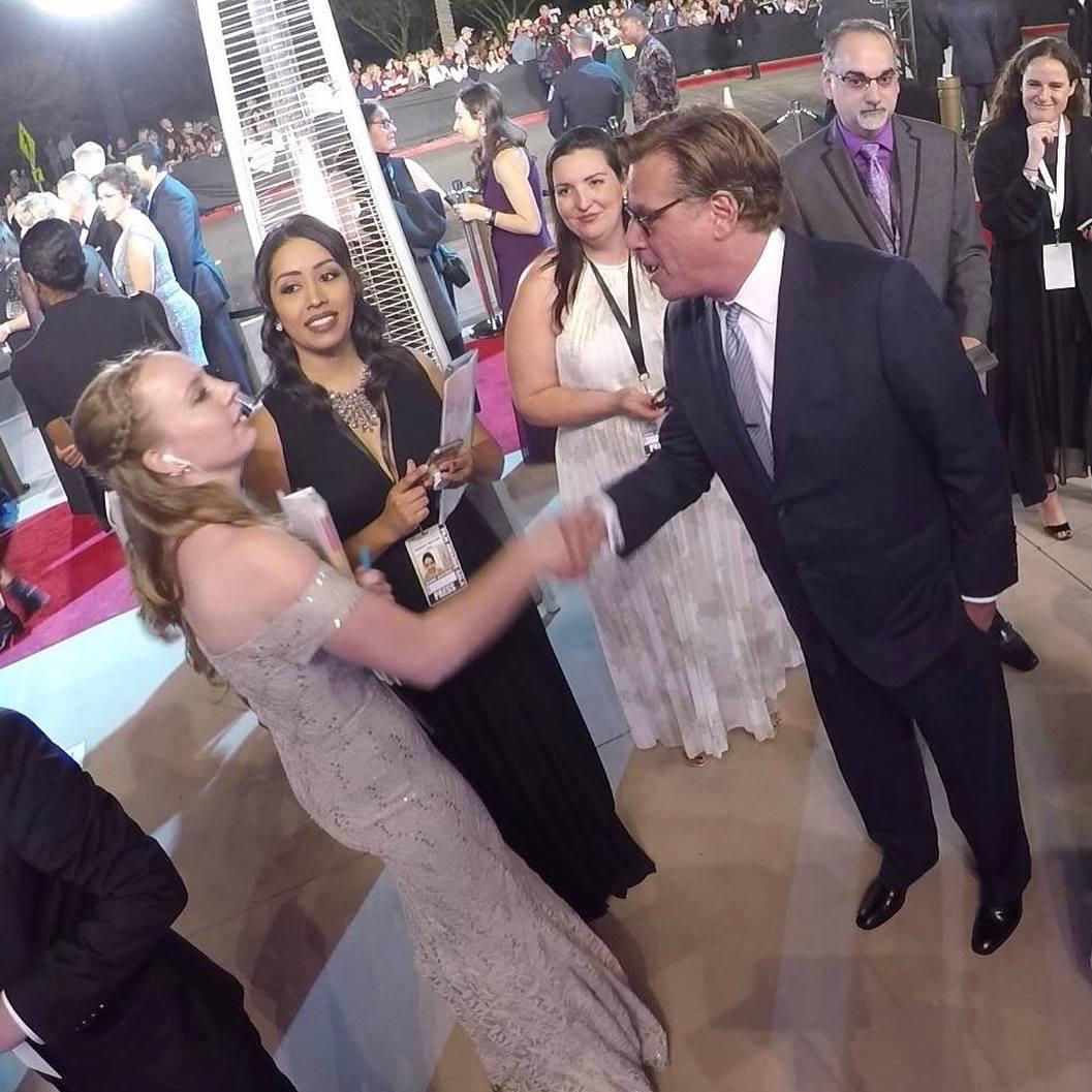 Aaron Sorkin on the Red Carpet