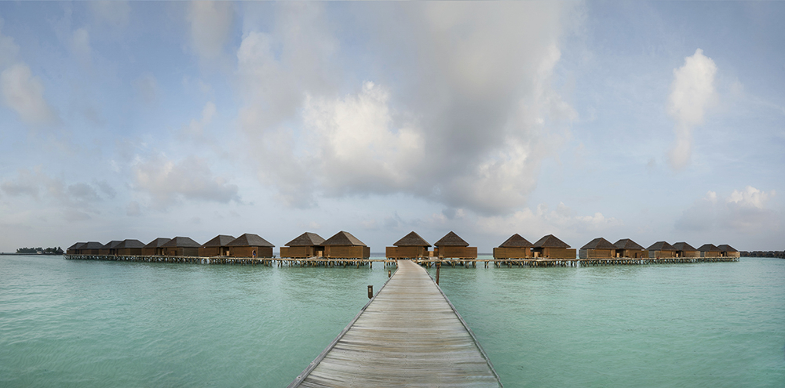 i couldn't get over the visual impact of the bungalows over the water. Just stunning.
