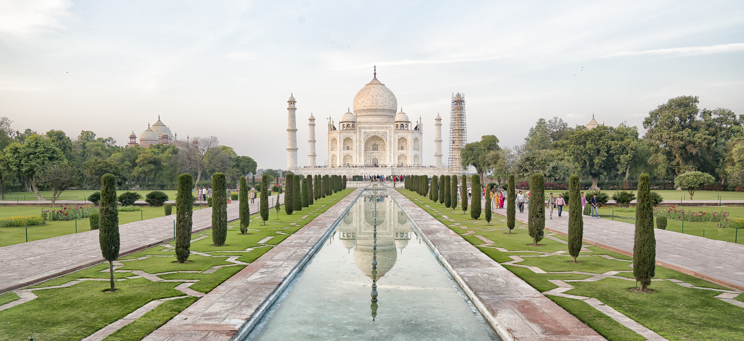 Taj Mahal at sunset