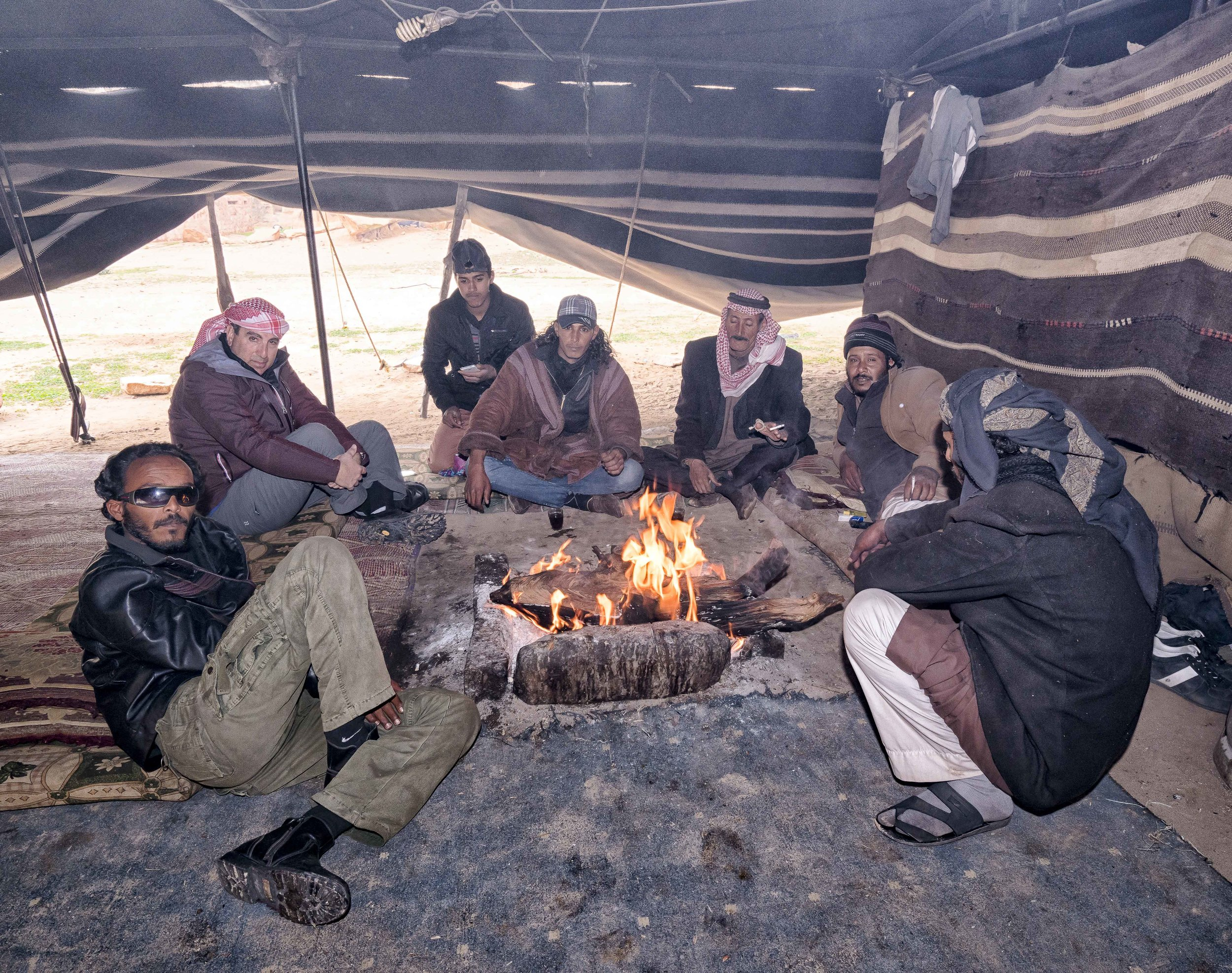 "Tea with the Bedouins. The tent was so thick with smoke it was hard to breath. Steve had to get up and leave a couple of times as it was overpowering. Wish this blog had ""smellovision"" as it was intense."
