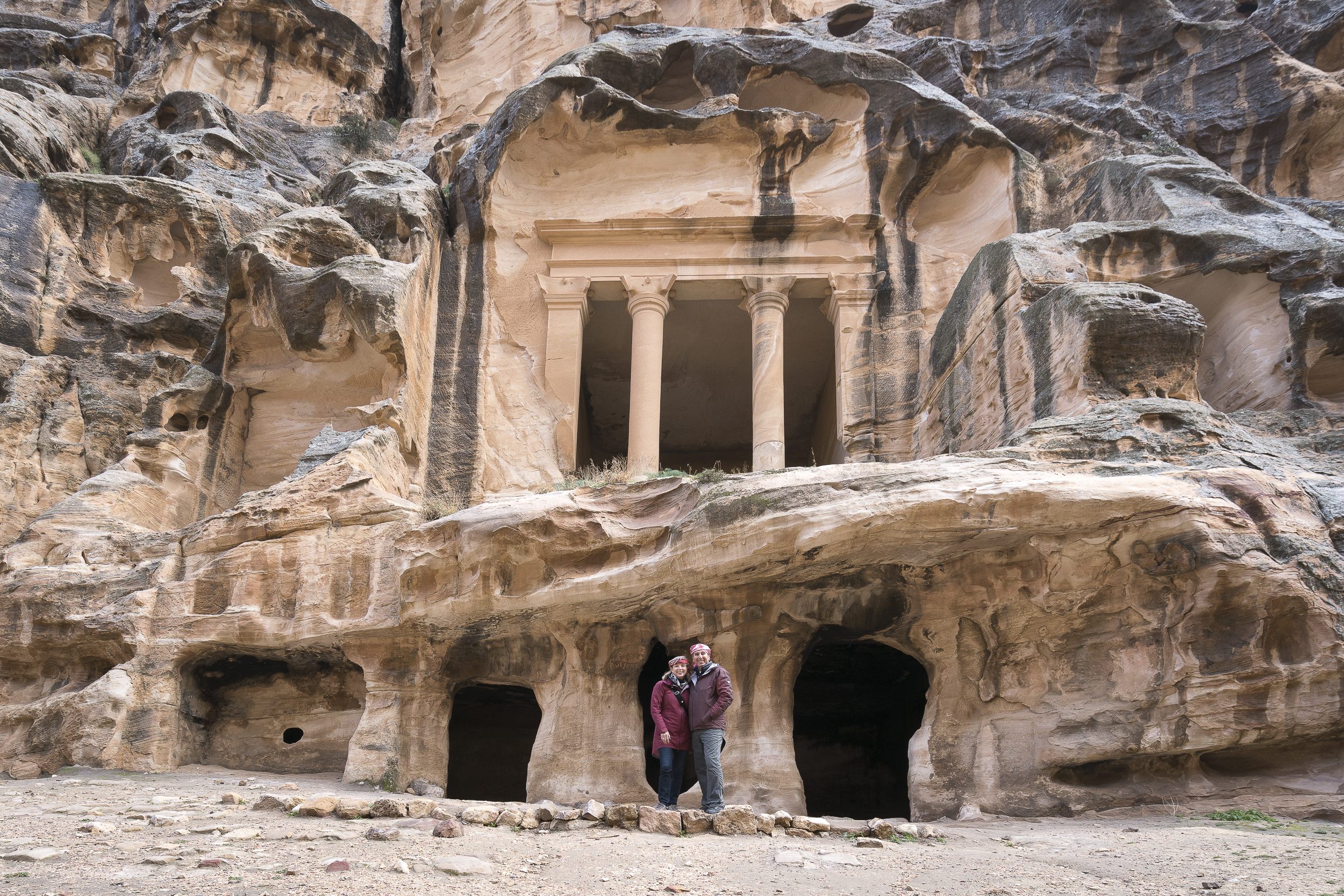 One of the many sites of Little Petra
