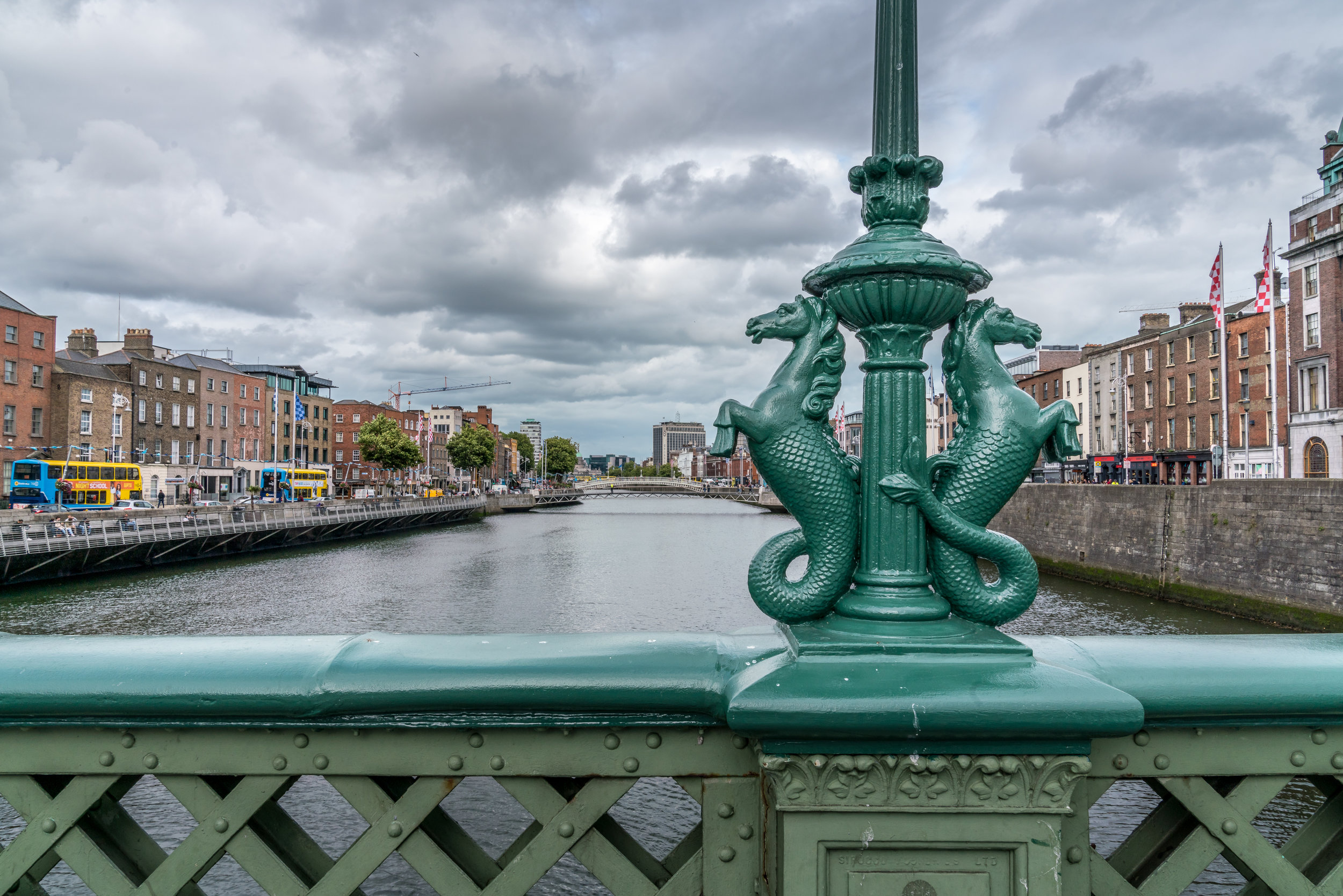View down the River Liffey
