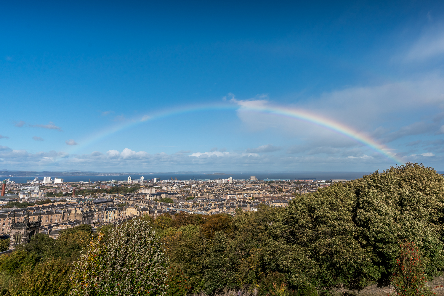 Another rainbow! View over the New Town area of Edinburgh.
