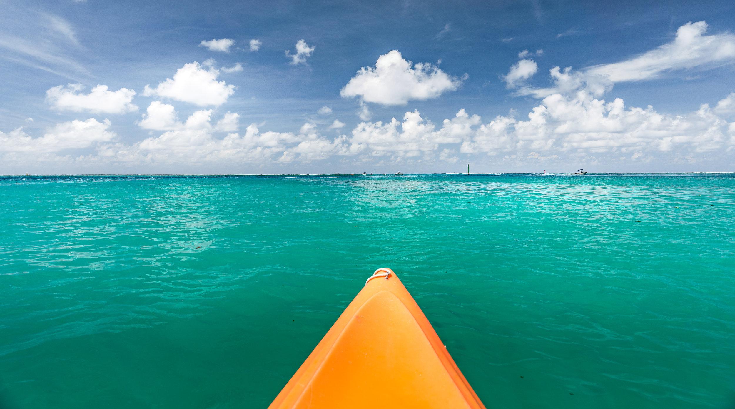 Stunning aquamarine seas