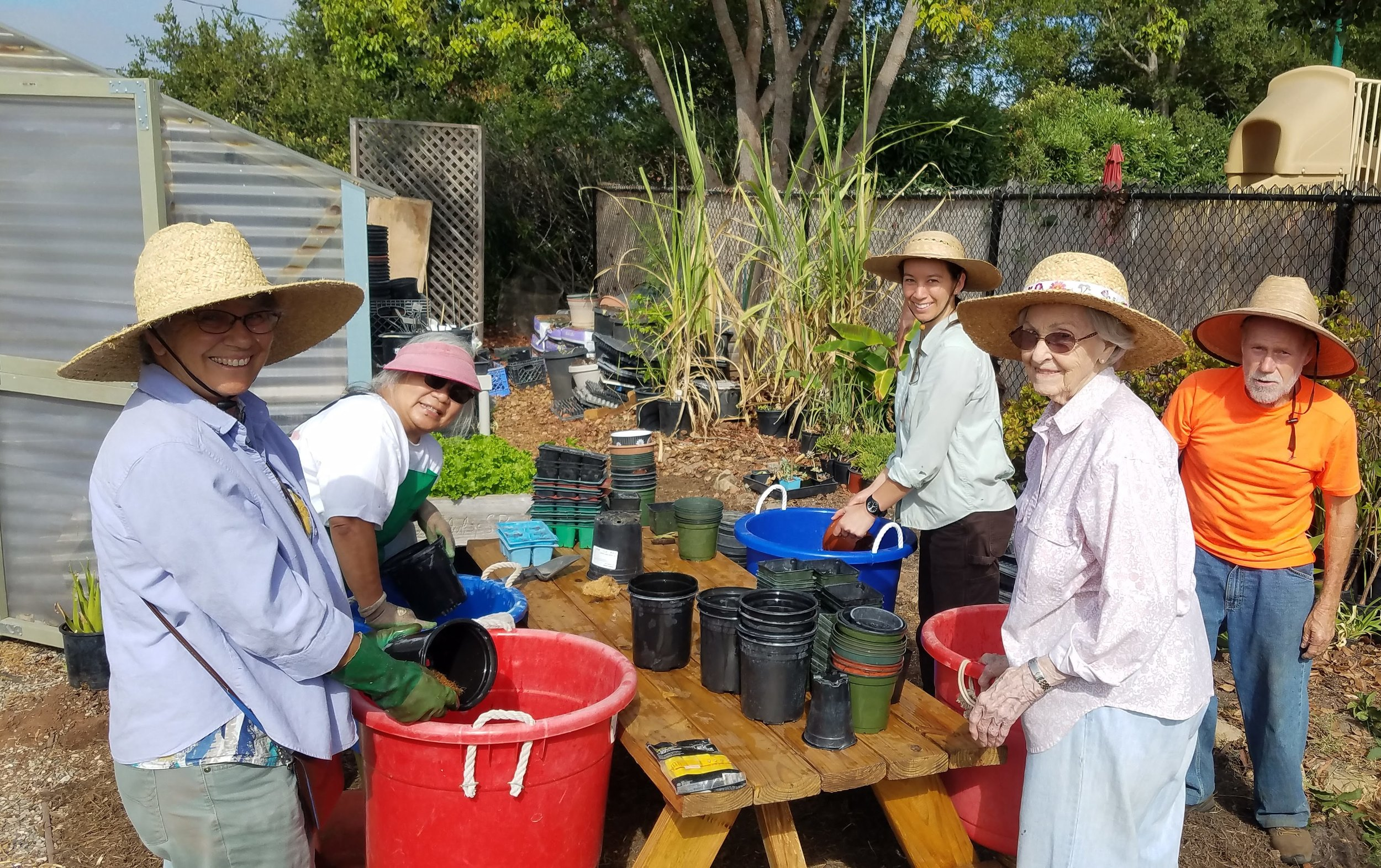 Some of our amazing volunteers that keep our garden flourishing throughout the year!