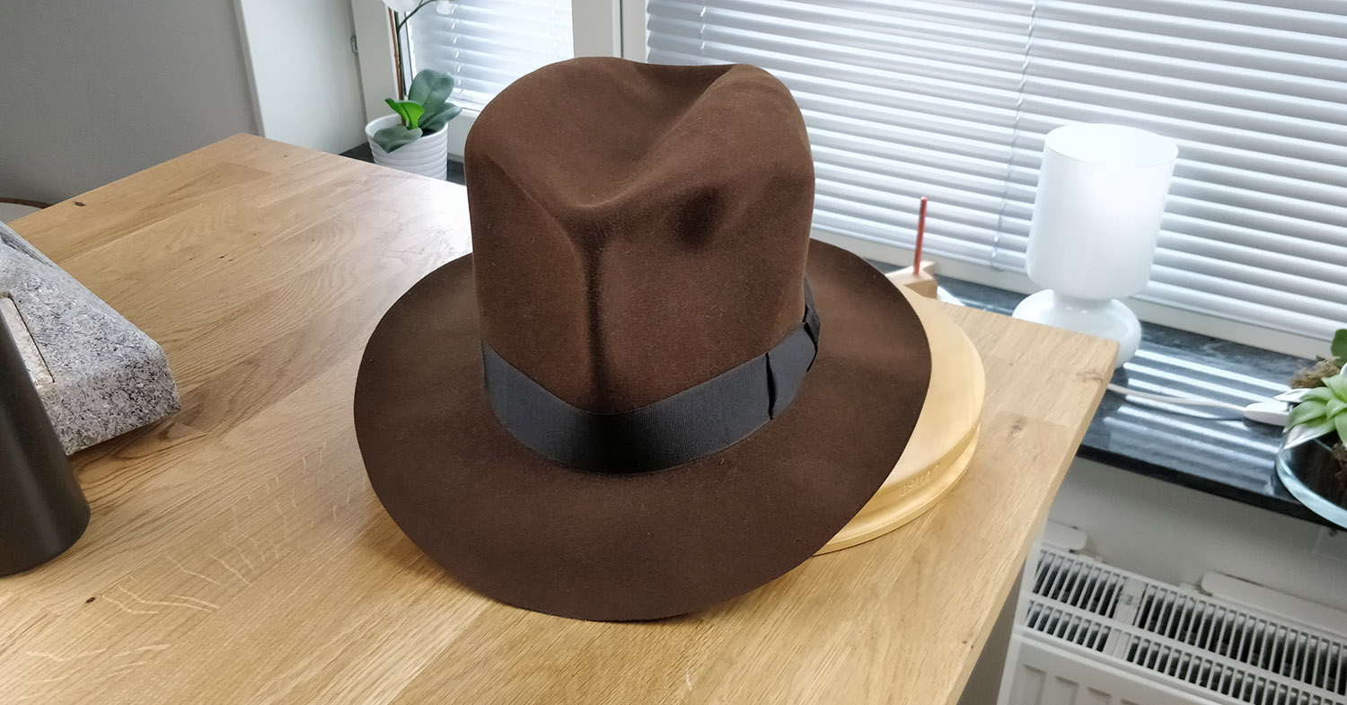100X Beaver, Sable Brown, LEIFUR Lucky FEDORA