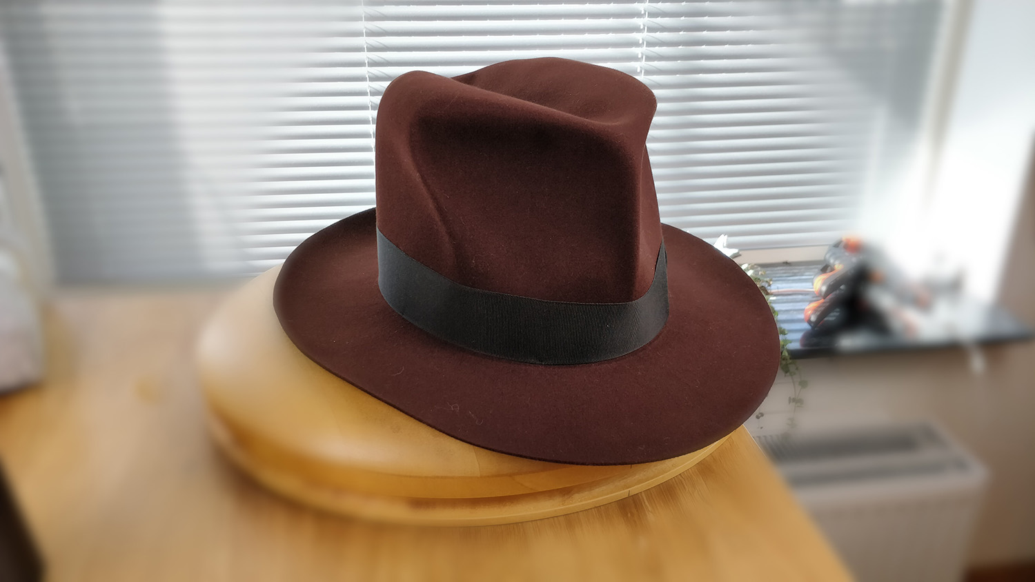 100X Beaver, Dark Brown Rust, LEIFUR Lucky Fedora