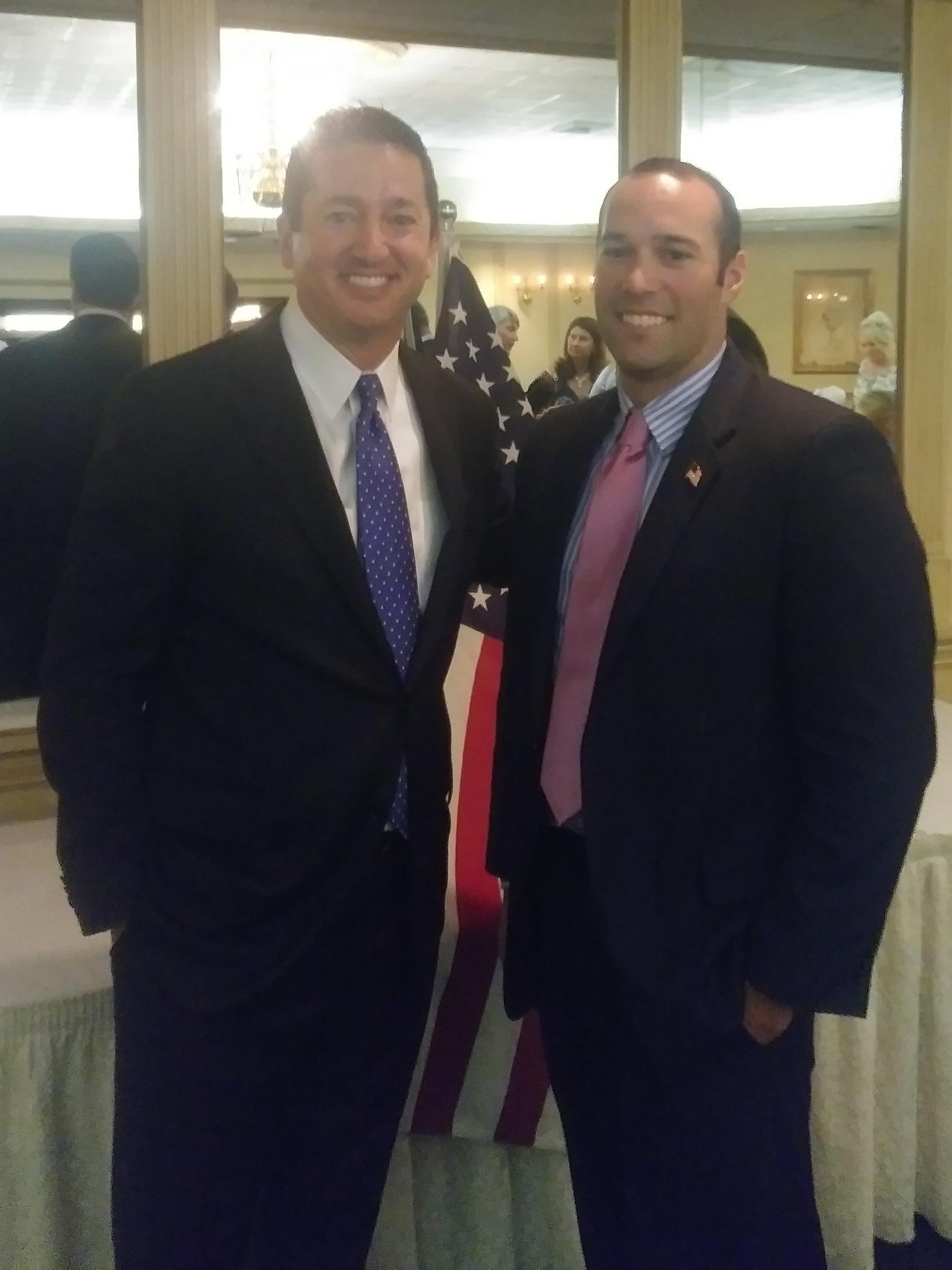 CD2 frontrunners David Richter and Brian Fitzherbert at a Salem County event