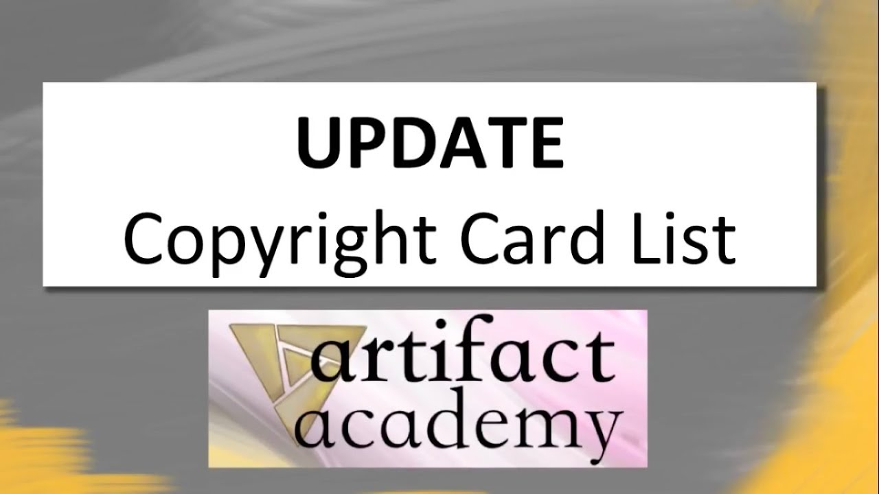 Update to Copyright Card List - New copyright listings from Valve.Video - Neon