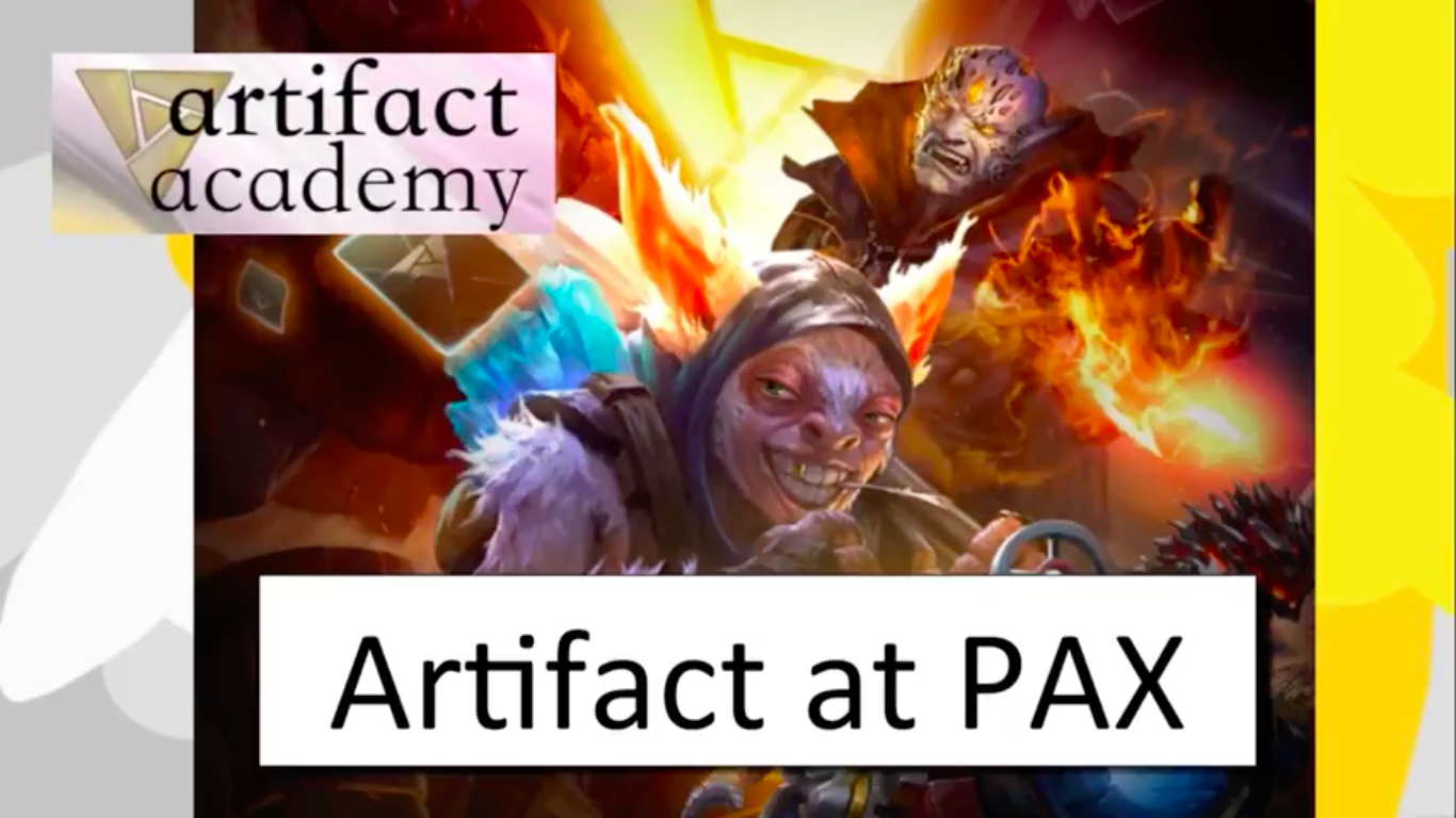Artifact at PAX - Big news! Valve is coming to PAX with PLAYABLE Artifact demo!Video - Neon