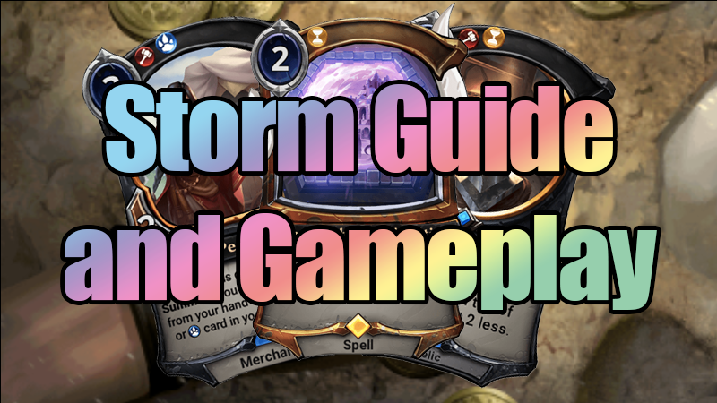 STORM! Guide and Gameplay - Sometimes, you just gotta cast your deck…Video - Neon - May 10, 2019