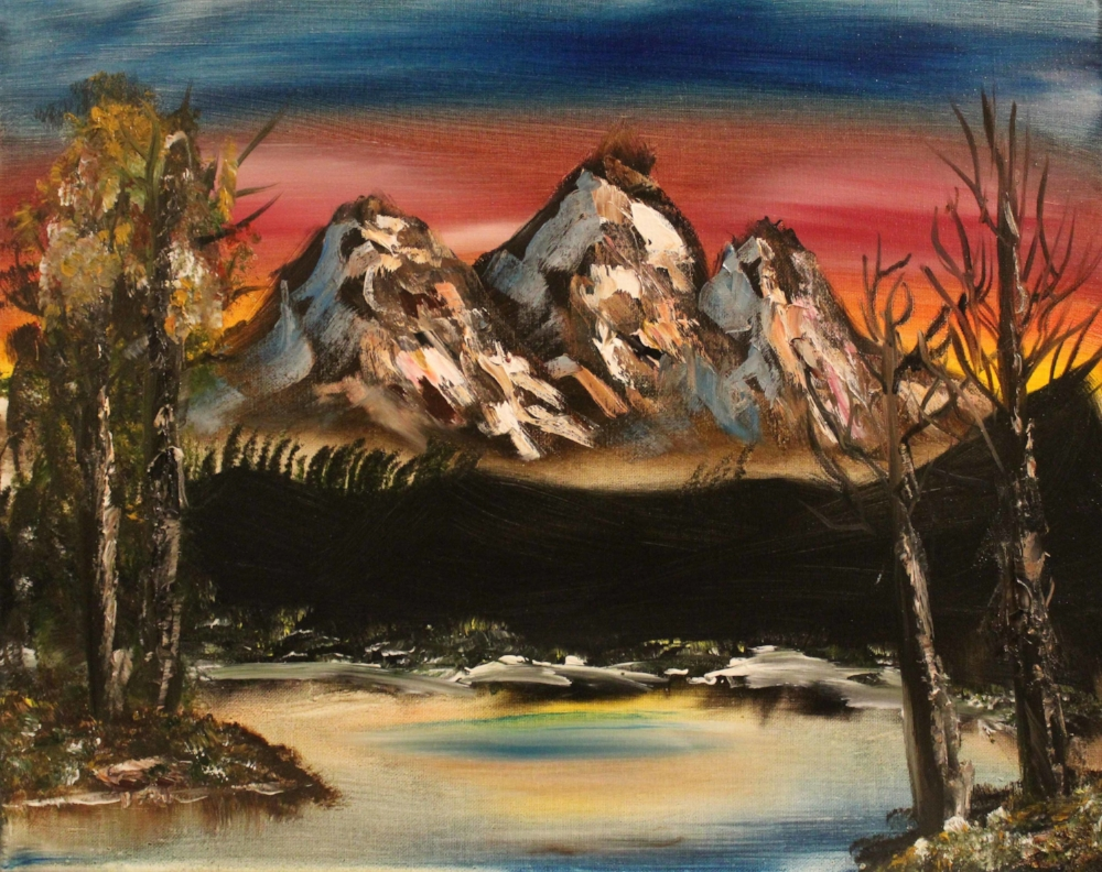 Haley Sellmeyer,  Sunset Mountain , 16 x 20 inches, Oil painting, courtesy of the artist