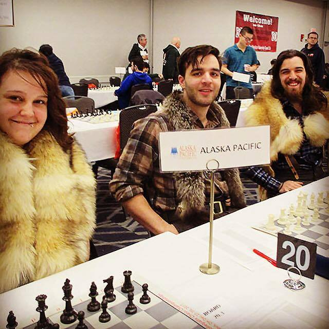 The Middle Game - The first collegiate appearance was monumental for the development of Alaskan Chess, APU, and reintegration of the state on a national level. Though APU's chess team was down a player for the tournament, this did not stop two individual-points from being scored. Ultimately, the underdog-team left without medal, but mettle was brought back. Over the next 12 months, in preparation for the following Pan-Am of 2018, APU's club and team metamorphosed with new faces, spirit, and skill as community engagement in Alaska boomed with support. [Pan-Am]PC: WIM Alexey Root