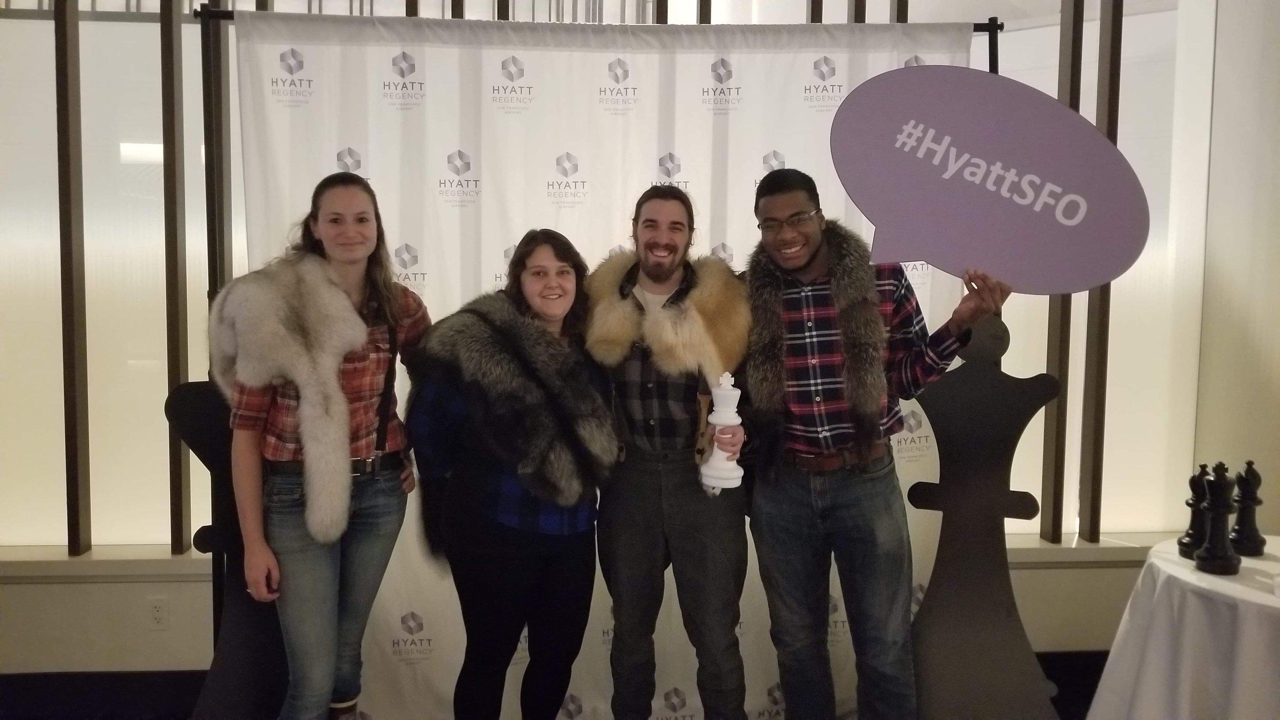 Left to right: Kayley McGruder, Emily Smith, Jonathon Singler, Emmanuel Perry     PC: Alaska Pacific Chess