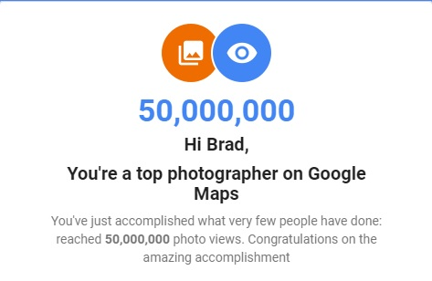 50 Million Views / google virtual tour san diego / google virtual tour photographer / google photographer San Diego / San Diego google virtual tour / google 360 photographer
