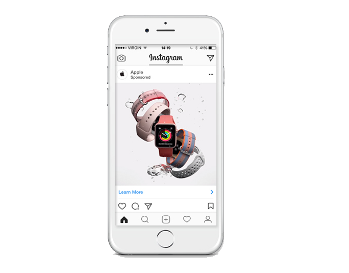 Image Ads - Instagram image ads allow you to use images to tell a story. They inspire people to learn more about your brand or to take some action. Image advertising is an excellent way to market your product or service on the site.