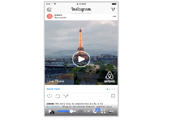 Video Ads - Video ads let you harness the power of sound, sight, and motion. Not only that, but you can use the landscape format and share videos that are up to 30 seconds long, allowing you to convey your message to the masses effectively.