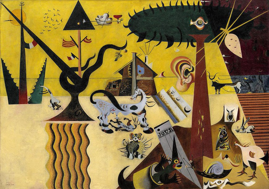 The Tilled Field, Miró, 1923-24, oil on canvas