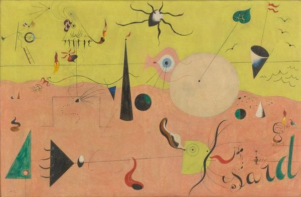 The Hunter, Miró, 1924, oil on canvas